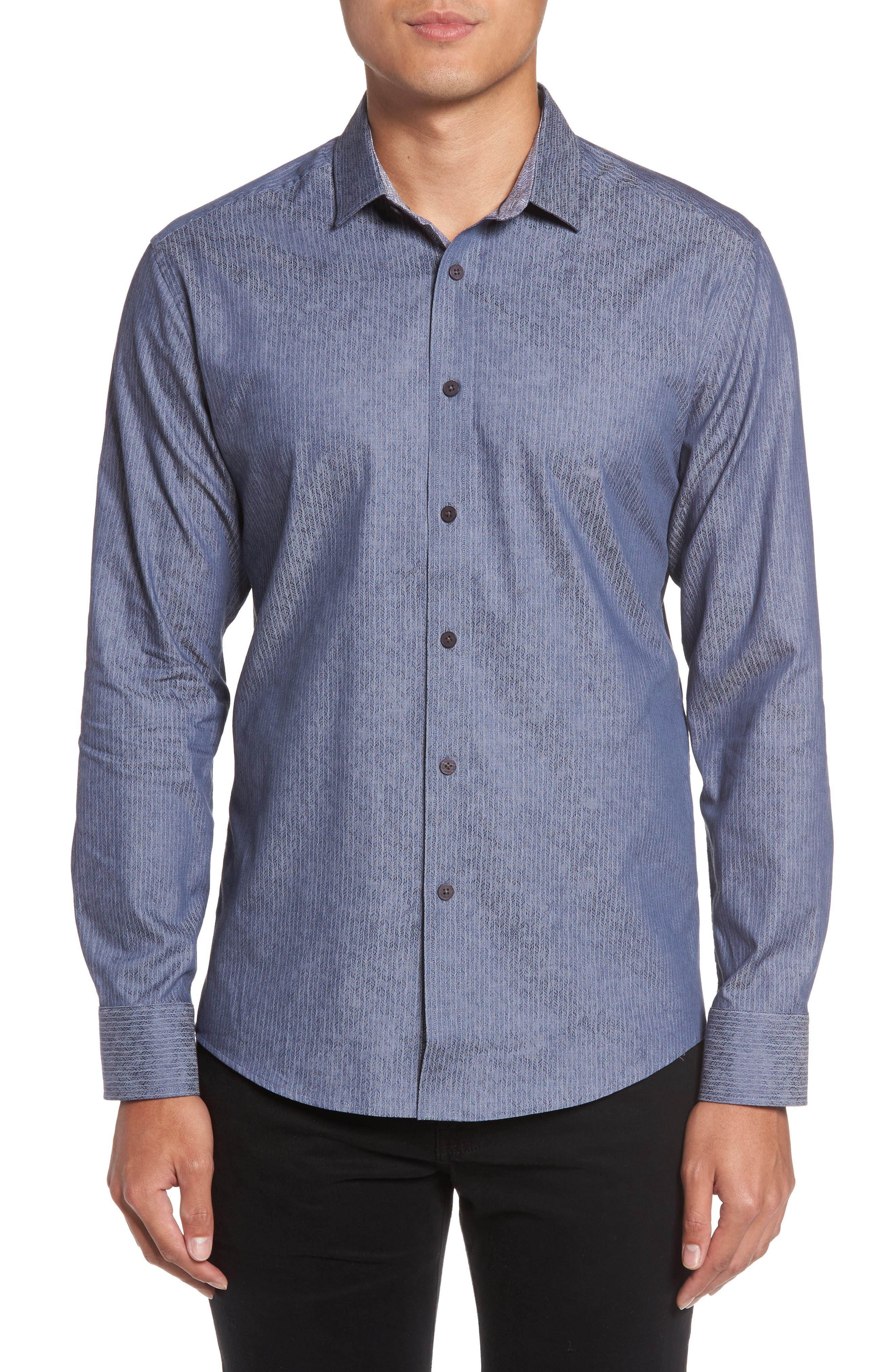 Slim Fit Print Sport Shirt,                         Main,                         color, 420