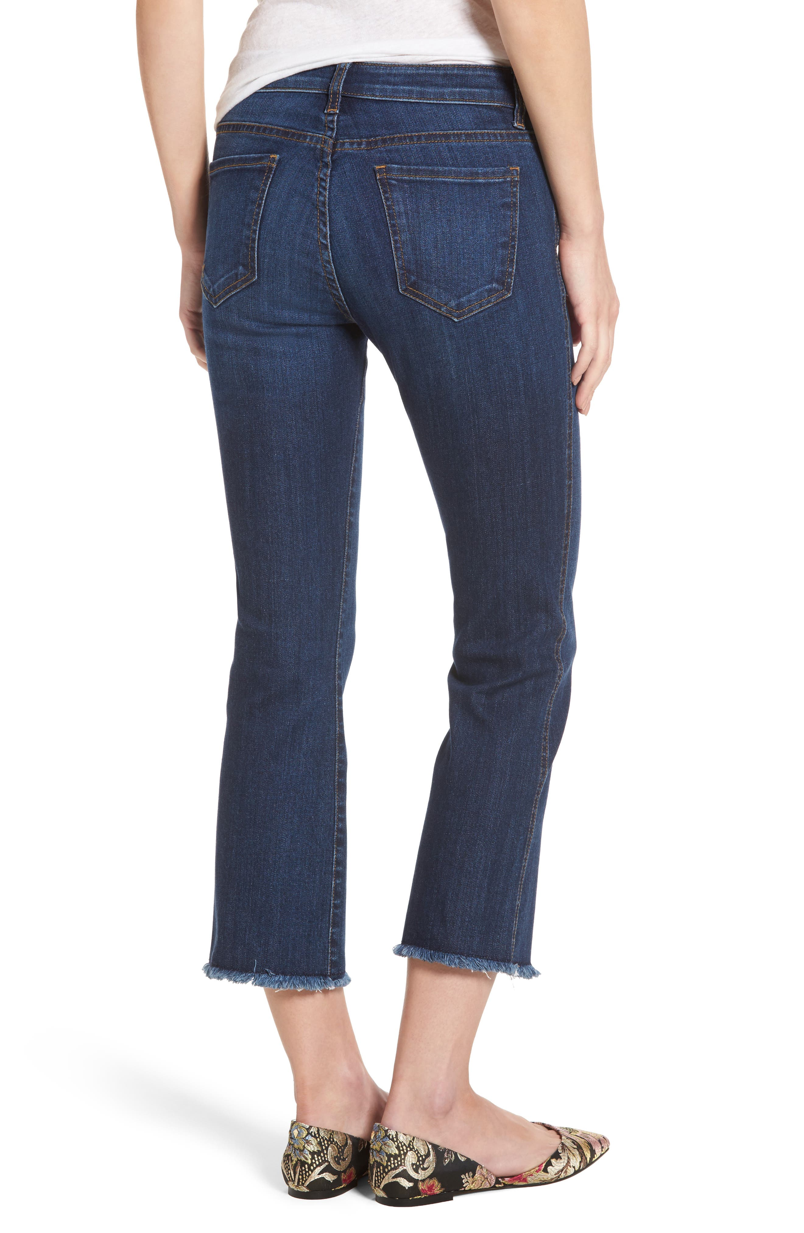 Reese Frayed Ankle Jeans,                             Alternate thumbnail 2, color,                             414