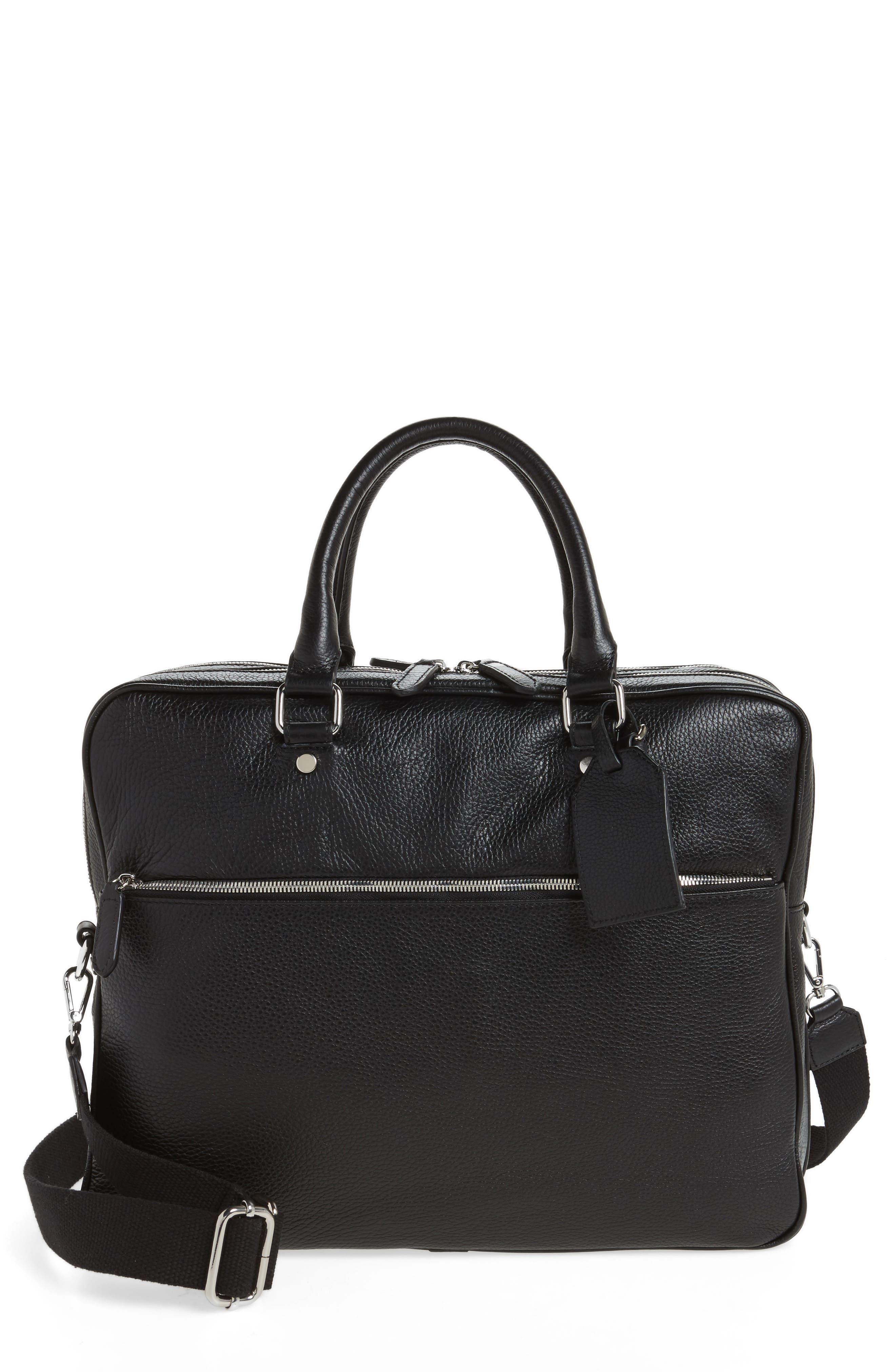 Leather Laptop Bag,                             Main thumbnail 1, color,