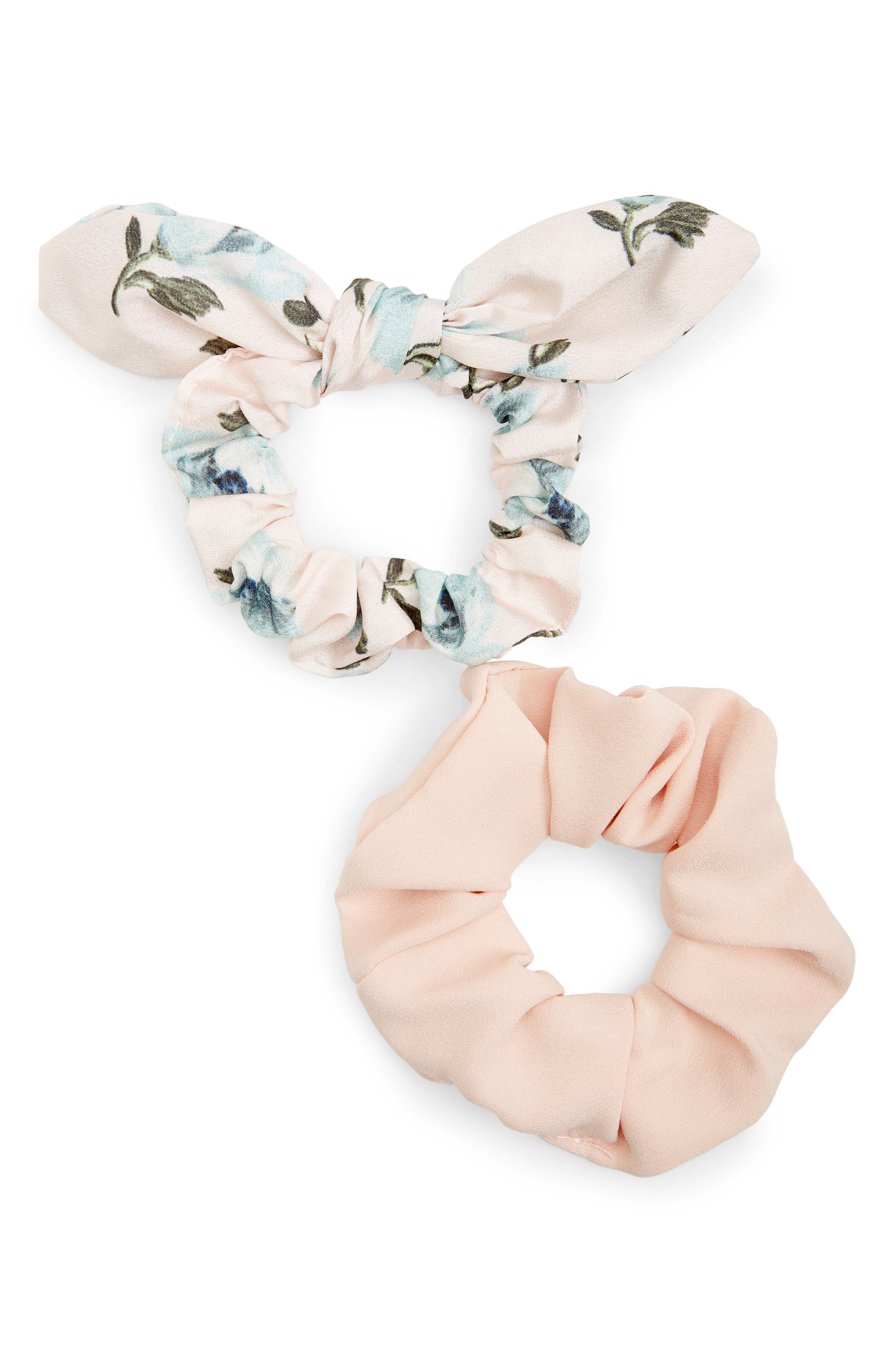 2-Pack Scrunchies,                         Main,                         color, BLUSH