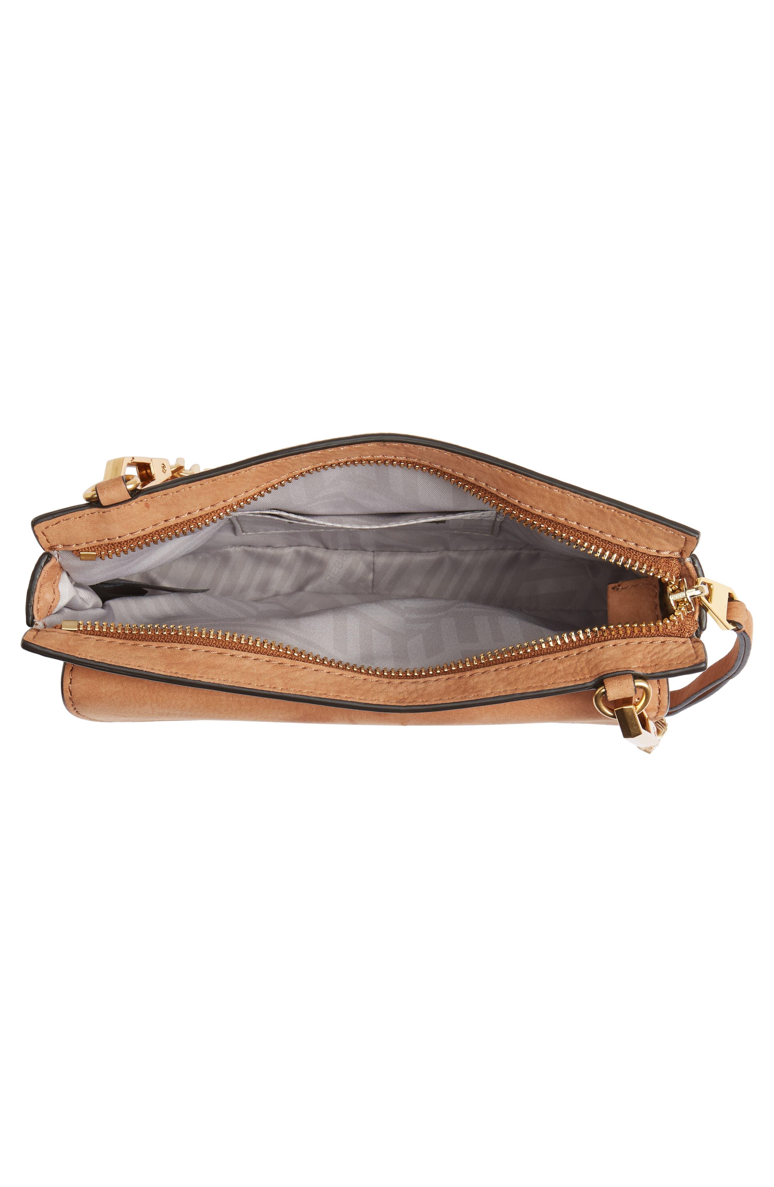 Medium Bree Nubuck Crossbody Wallet,                             Alternate thumbnail 4, color,                             230