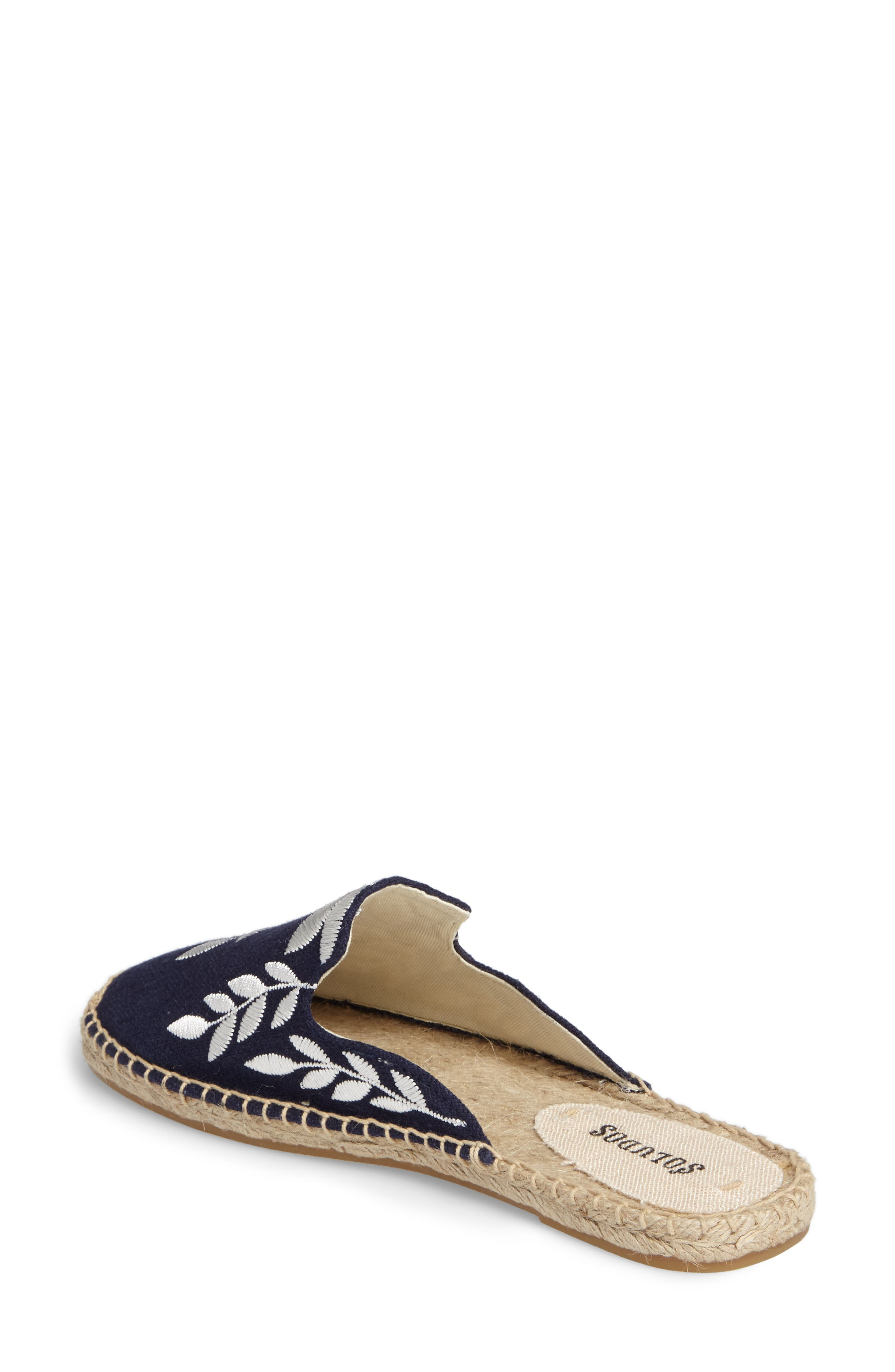 Embroidered Espadrille Mule,                             Alternate thumbnail 2, color,