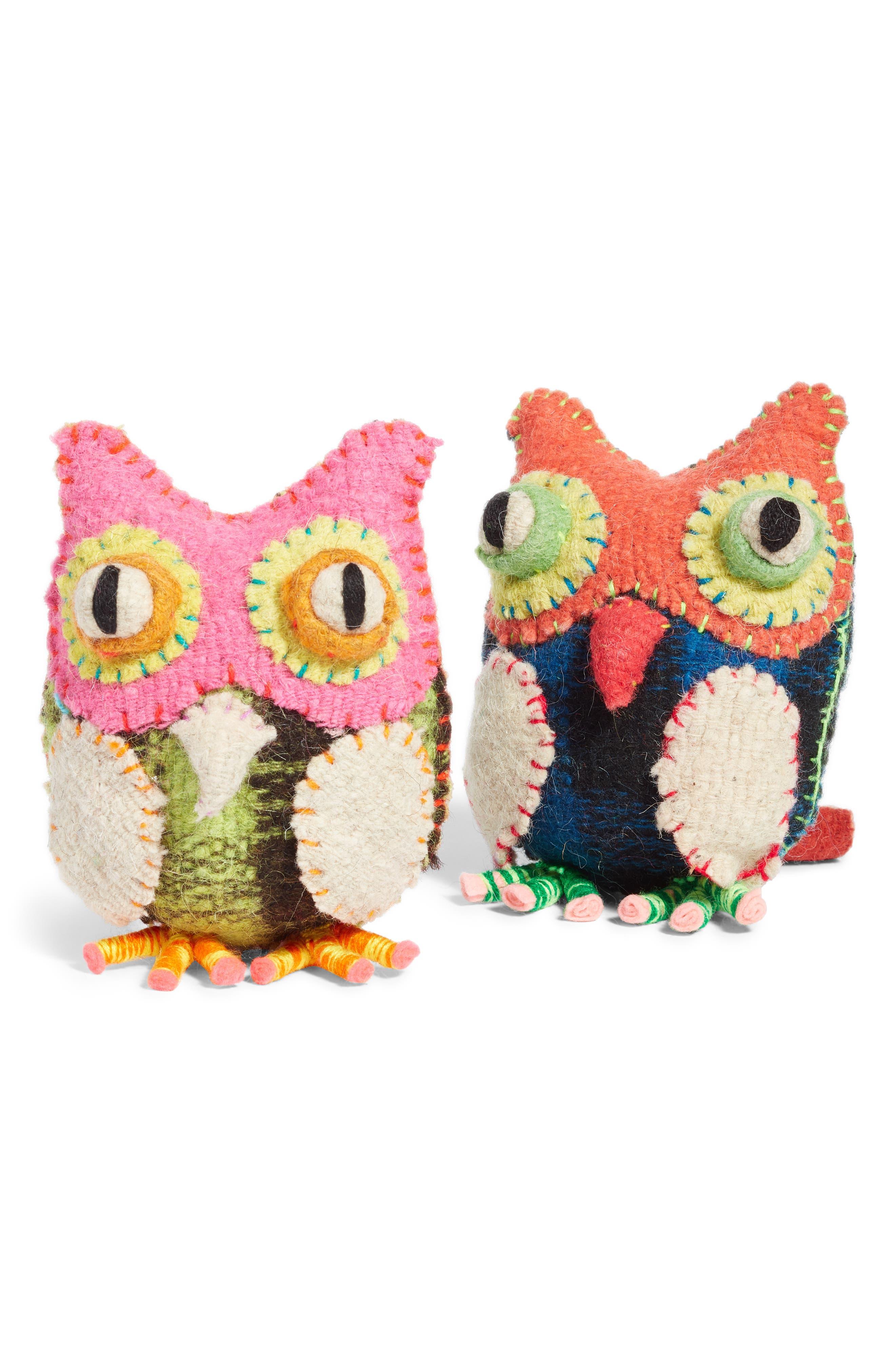Owl Stuffed Animal,                             Alternate thumbnail 3, color,                             MULTI