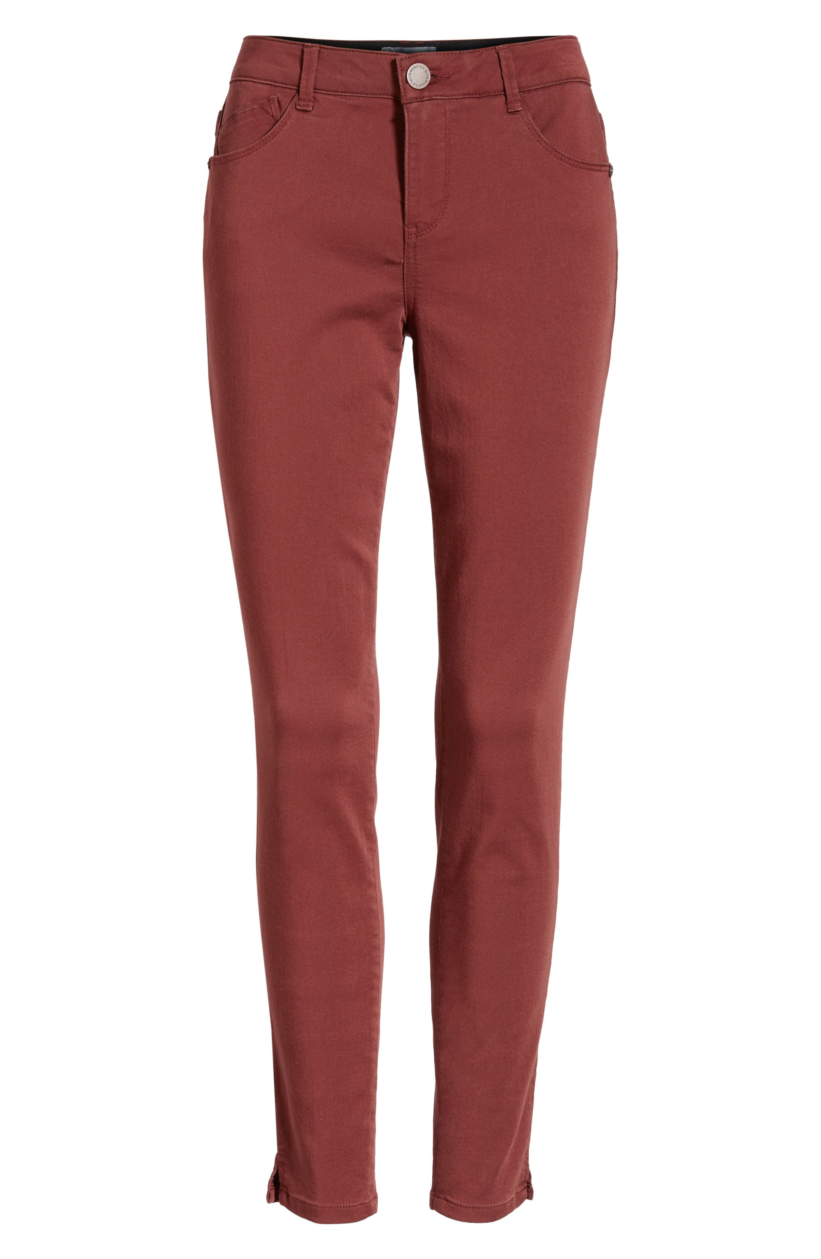 Wit and Wisdom Ab-Solution Ankle Skinny Pants, Alternate, color, FIRED BRICK