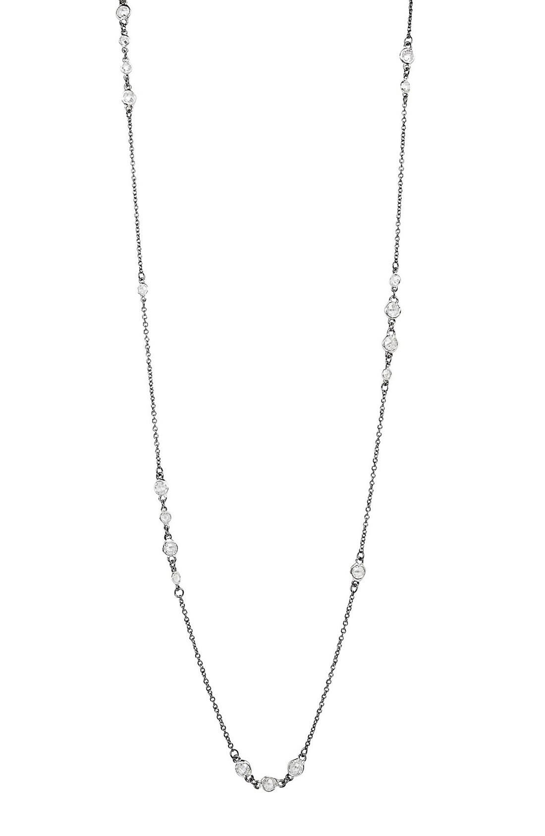 'The Standards' Long Station Necklace,                             Alternate thumbnail 3, color,                             SILVER/ BLACK