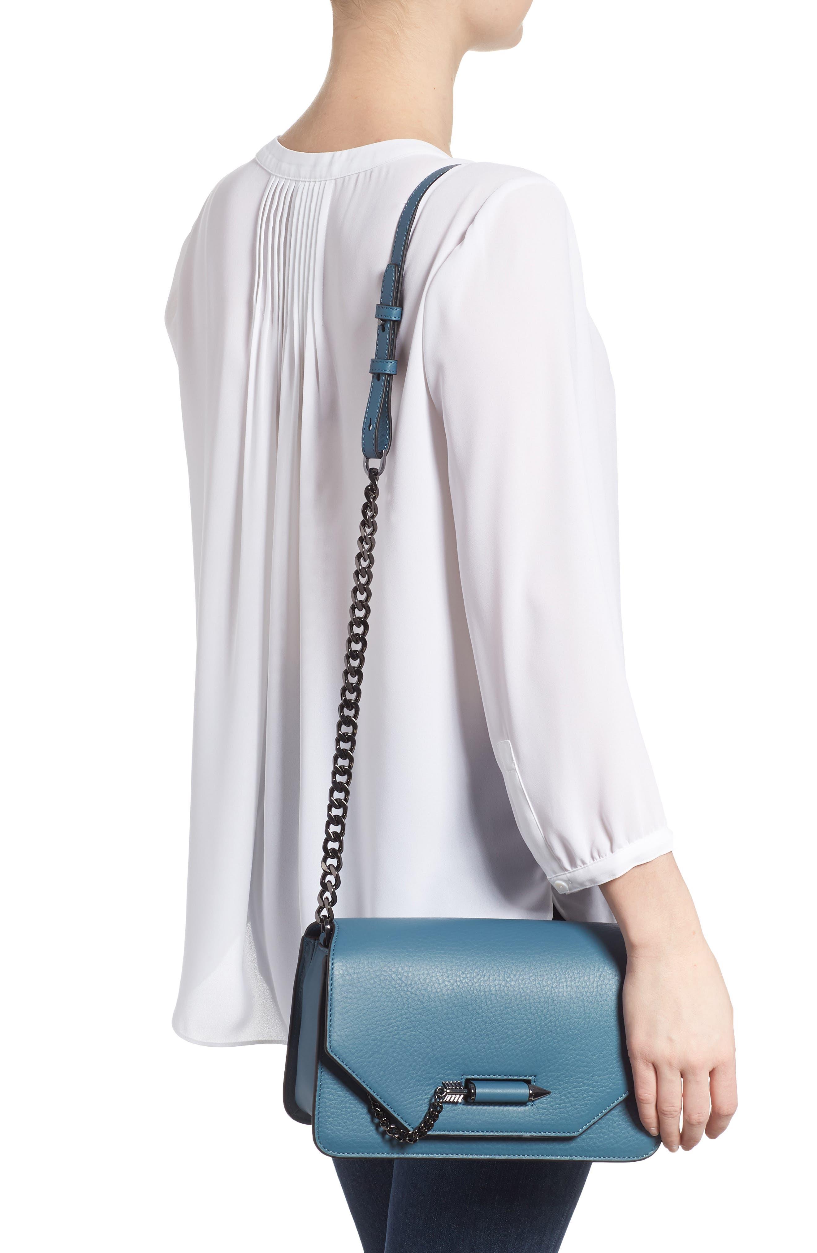 Cortney Nappa Leather Shoulder/Crossbody Bag,                             Alternate thumbnail 7, color,