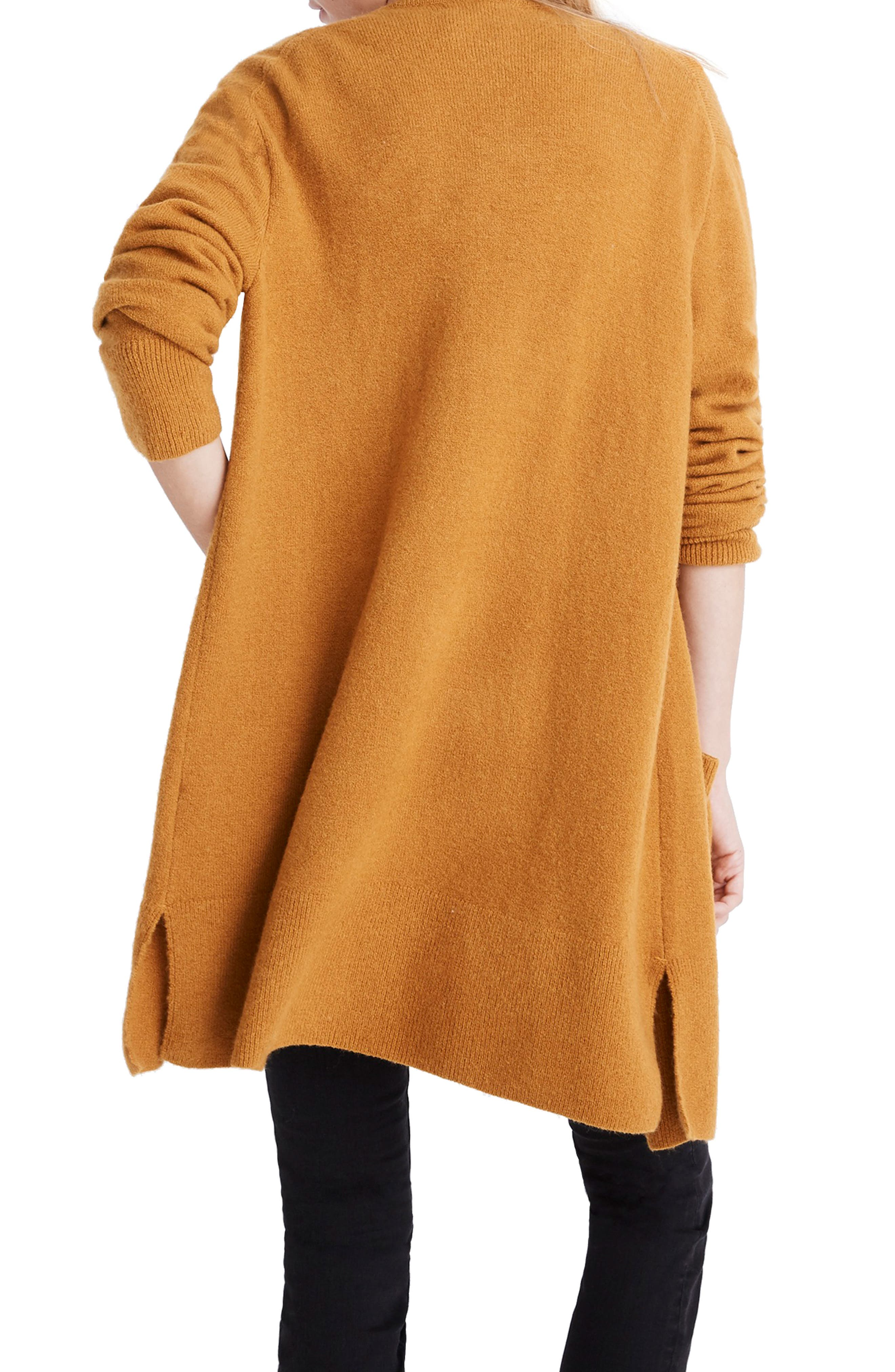 MADEWELL,                             Kent Cardigan Sweater,                             Alternate thumbnail 2, color,                             GOLDEN HARVEST