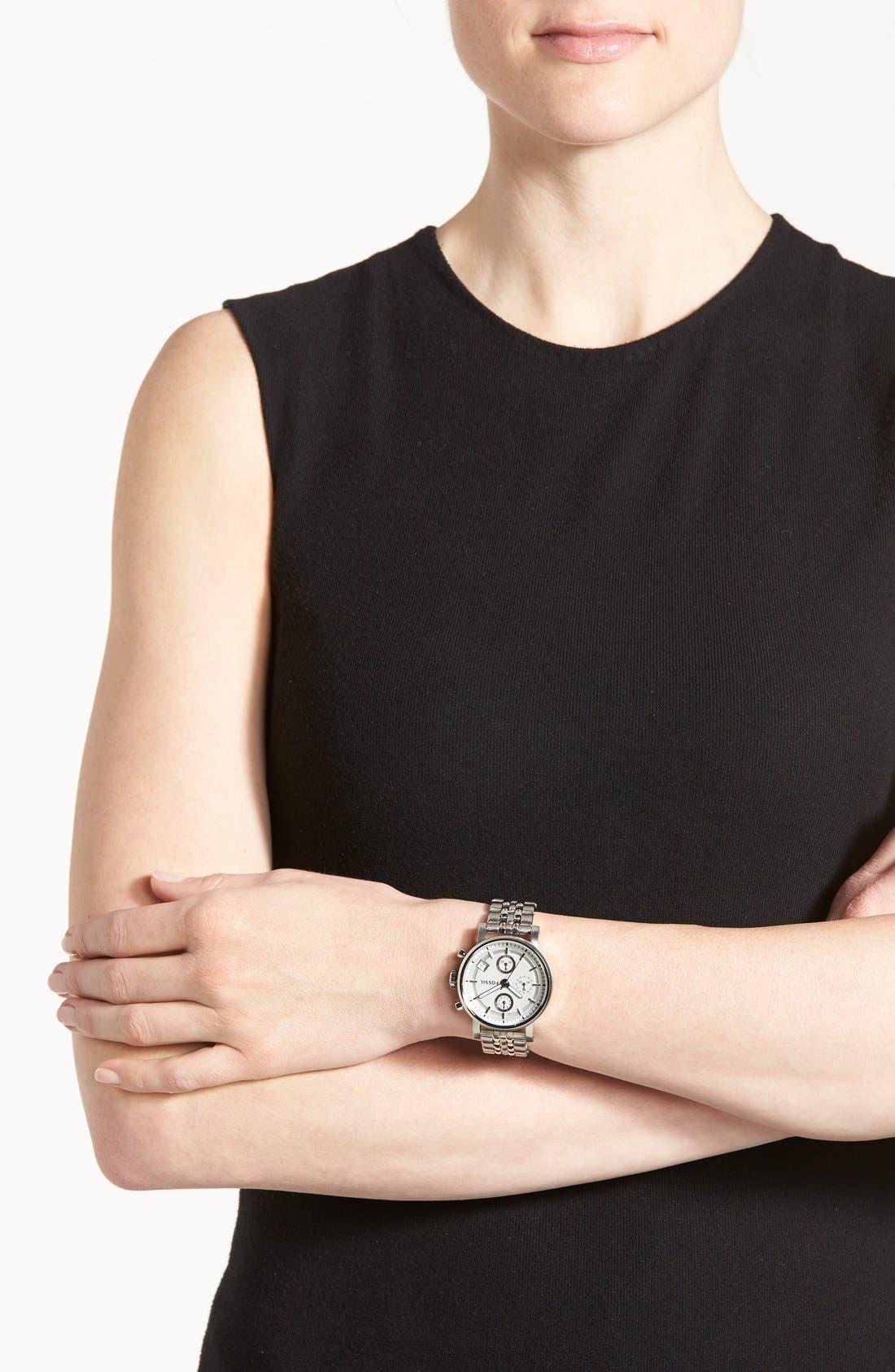 FOSSIL,                             'Original Boyfriend' Chronograph Bracelet Watch, 38mm,                             Alternate thumbnail 4, color,                             040