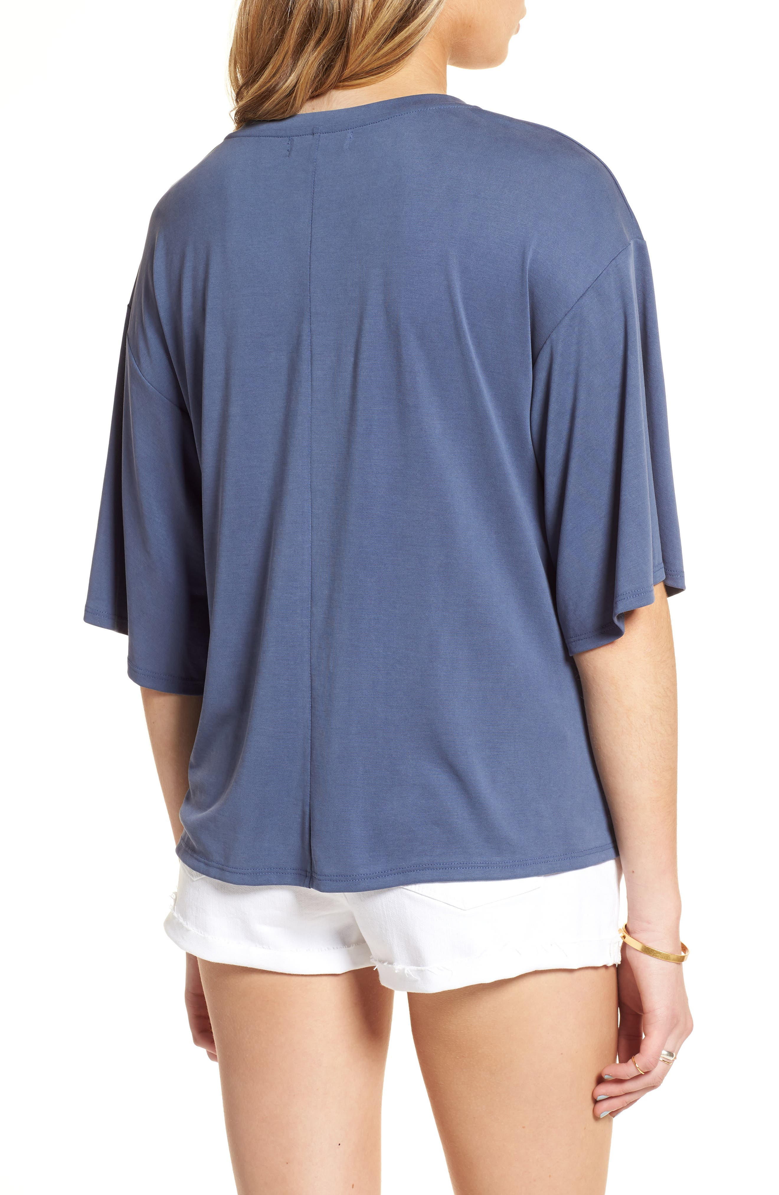 Lace-Up Tee,                             Alternate thumbnail 4, color,