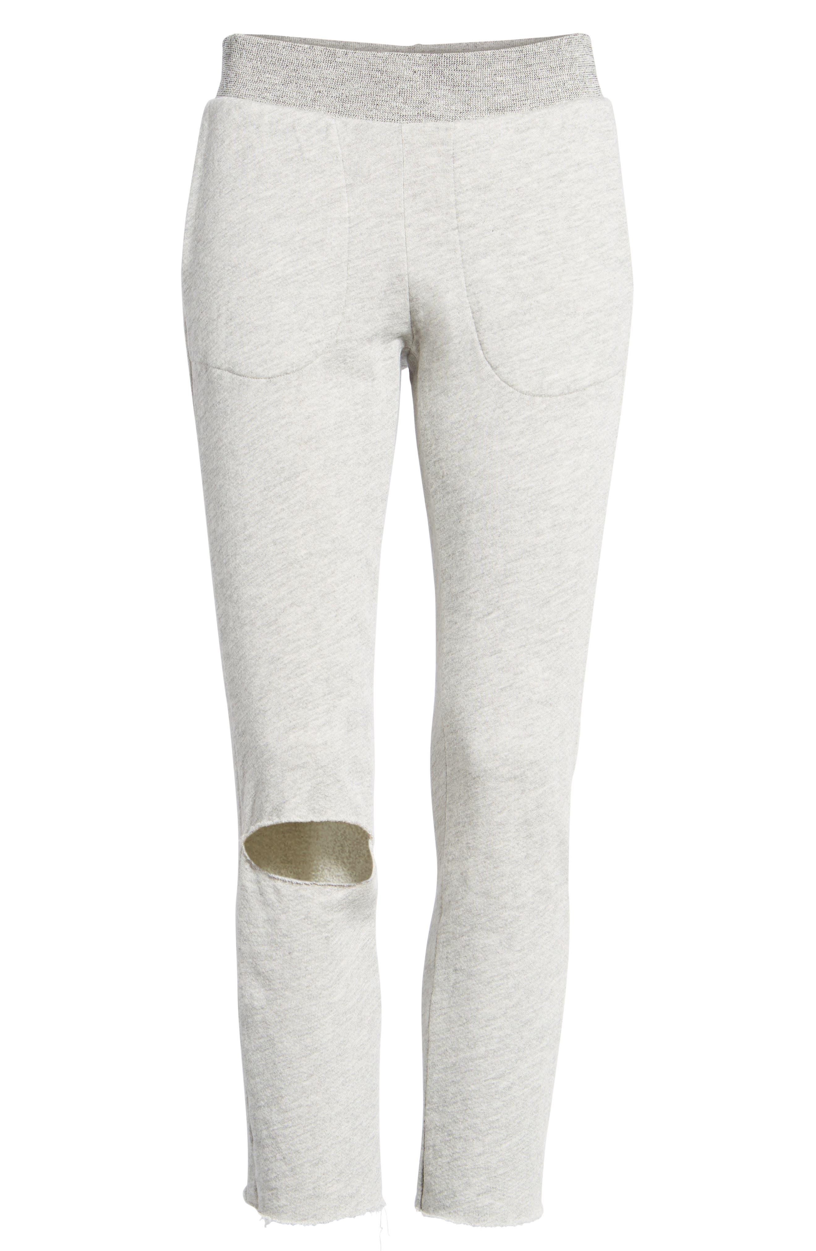 Malibu Slit Knee Sweatpants,                             Alternate thumbnail 6, color,                             030