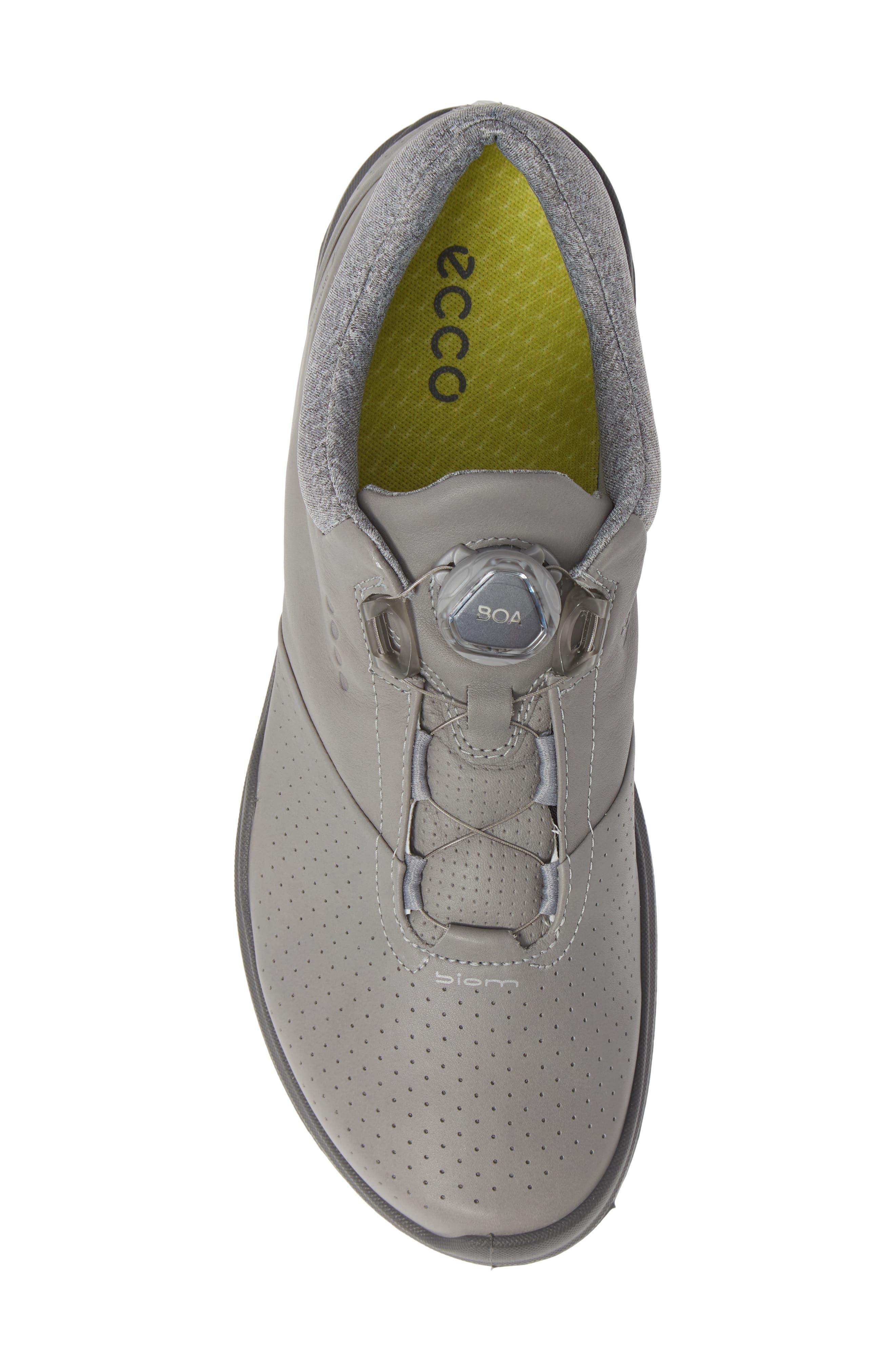 ECCO,                             BIOM Hybrid 3 Gore-Tex<sup>®</sup> Golf Shoe,                             Alternate thumbnail 5, color,                             WILD DOVE/ KIWI LEATHER