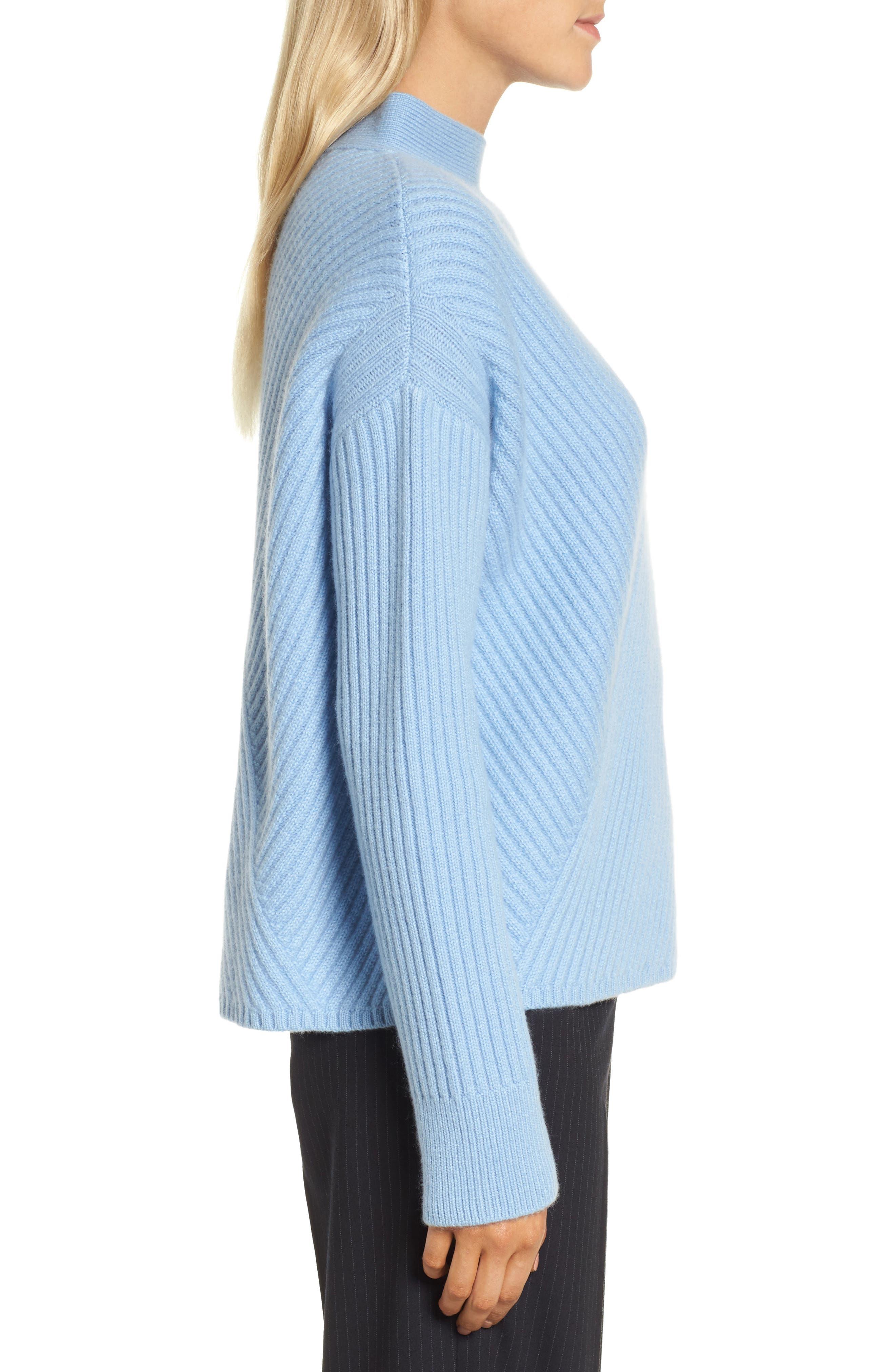 Bateau Neck Button Detail Cashmere Pullover,                             Alternate thumbnail 3, color,                             420