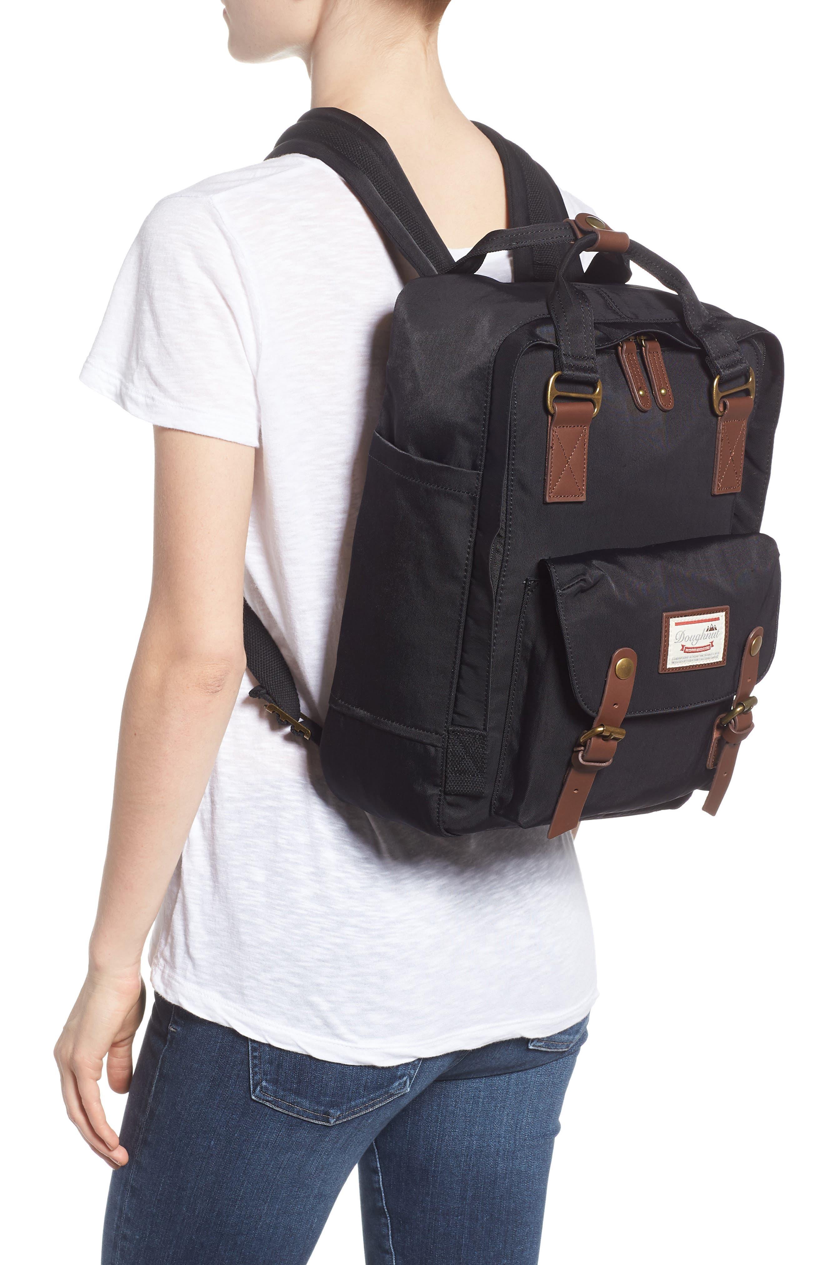 Macaroon Water Resistant Backpack,                             Alternate thumbnail 2, color,                             BLACK