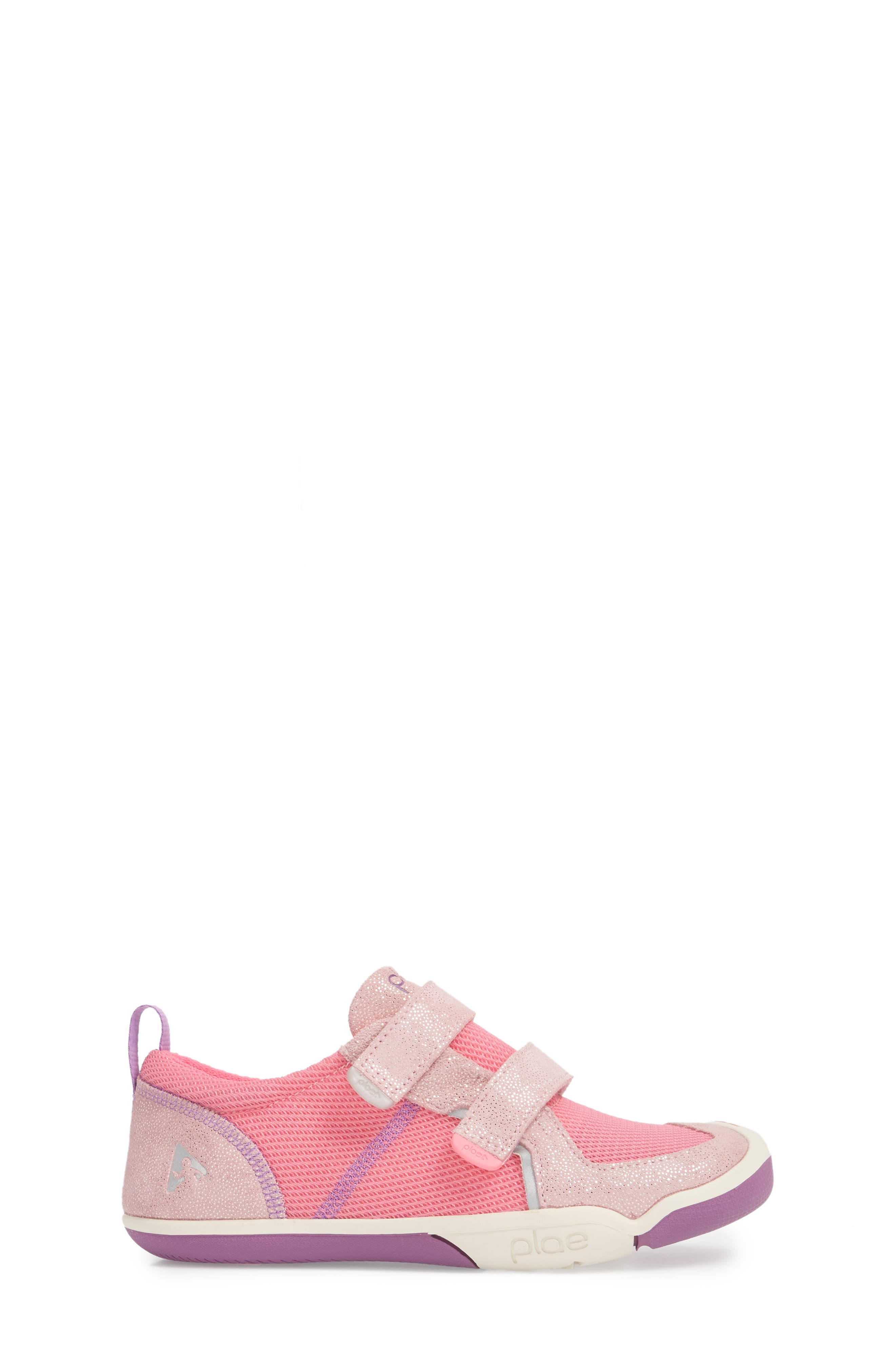 PLAE,                             'Ty' Customizable Sneaker,                             Alternate thumbnail 3, color,                             PINK/ PINK/ DEWBERRY