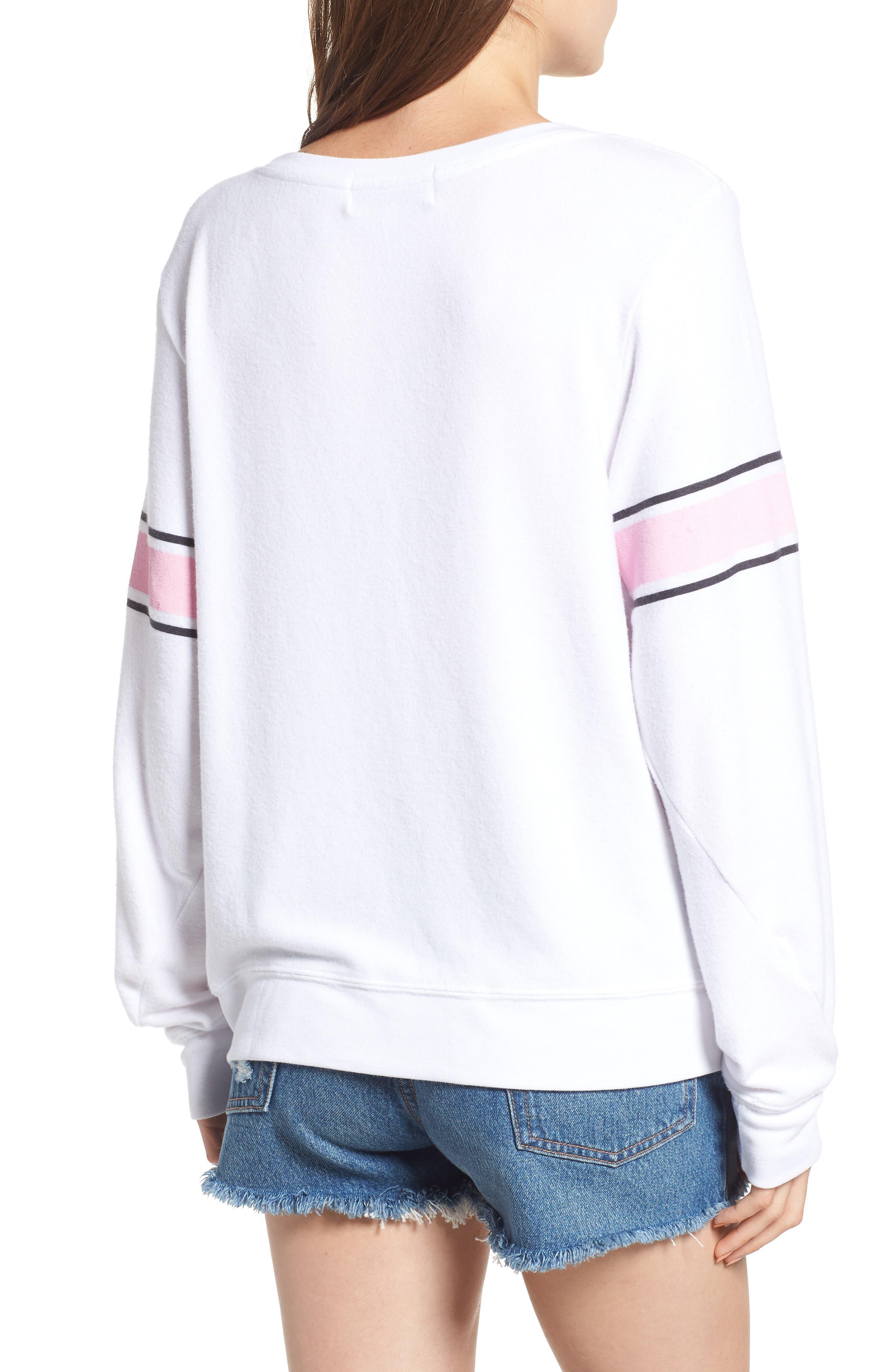 Game Day Baggy Beach Jumper Sweatshirt,                             Alternate thumbnail 2, color,                             CLEAN WHITE