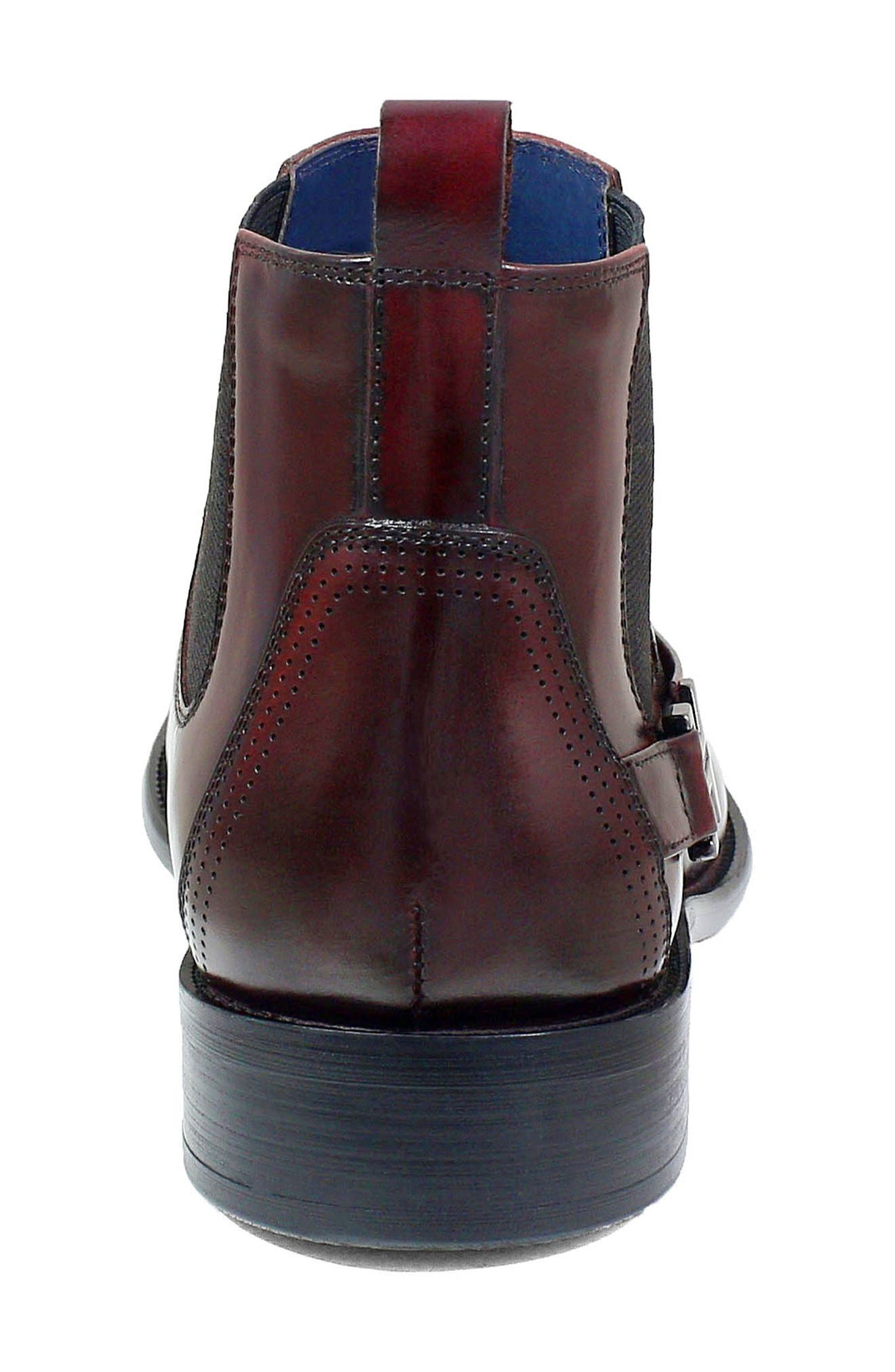 Joffrey Chelsea Boot,                             Alternate thumbnail 8, color,                             BURGUNDY LEATHER