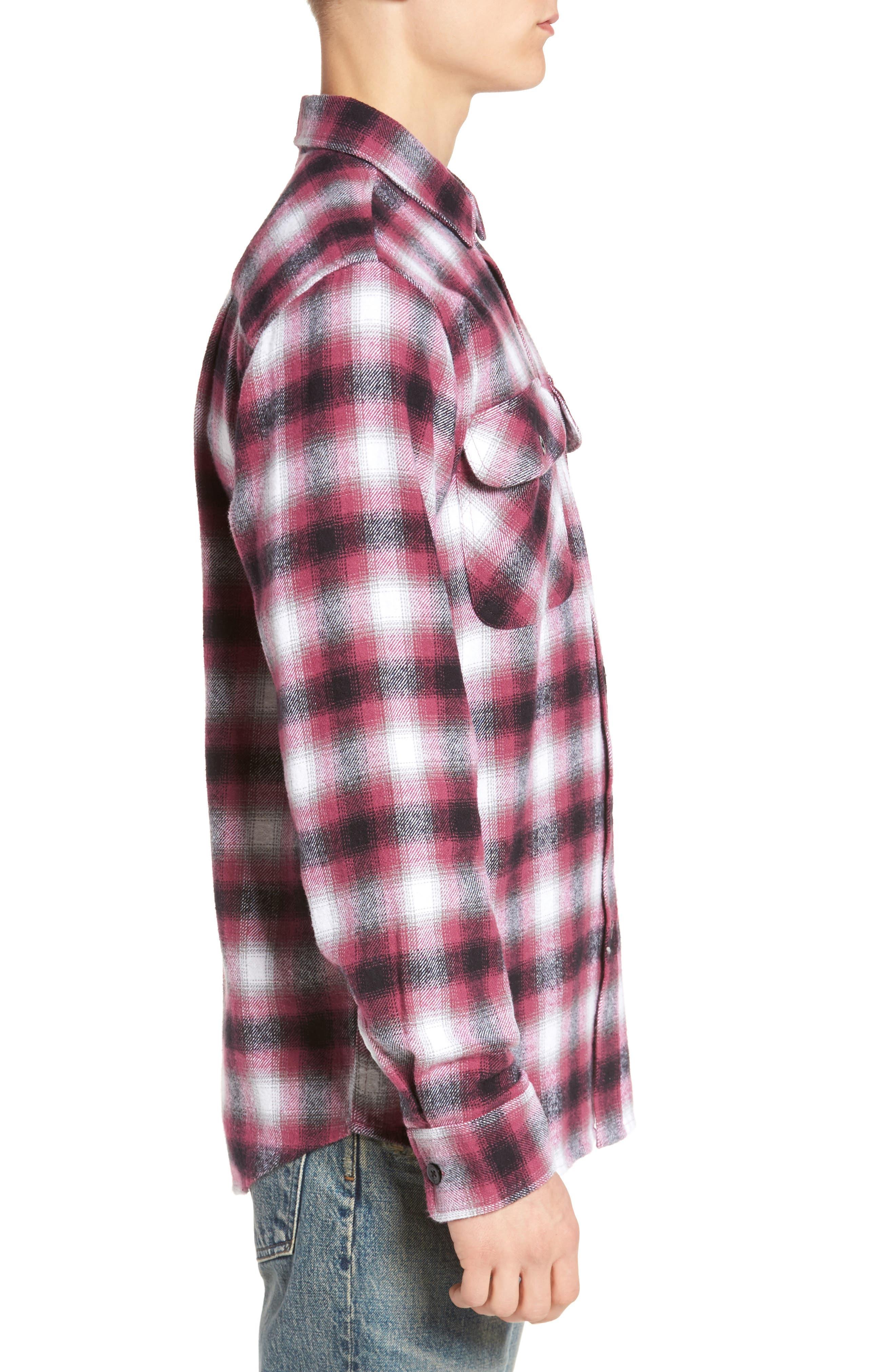 Mission Plaid Flannel Sport Shirt,                             Alternate thumbnail 3, color,