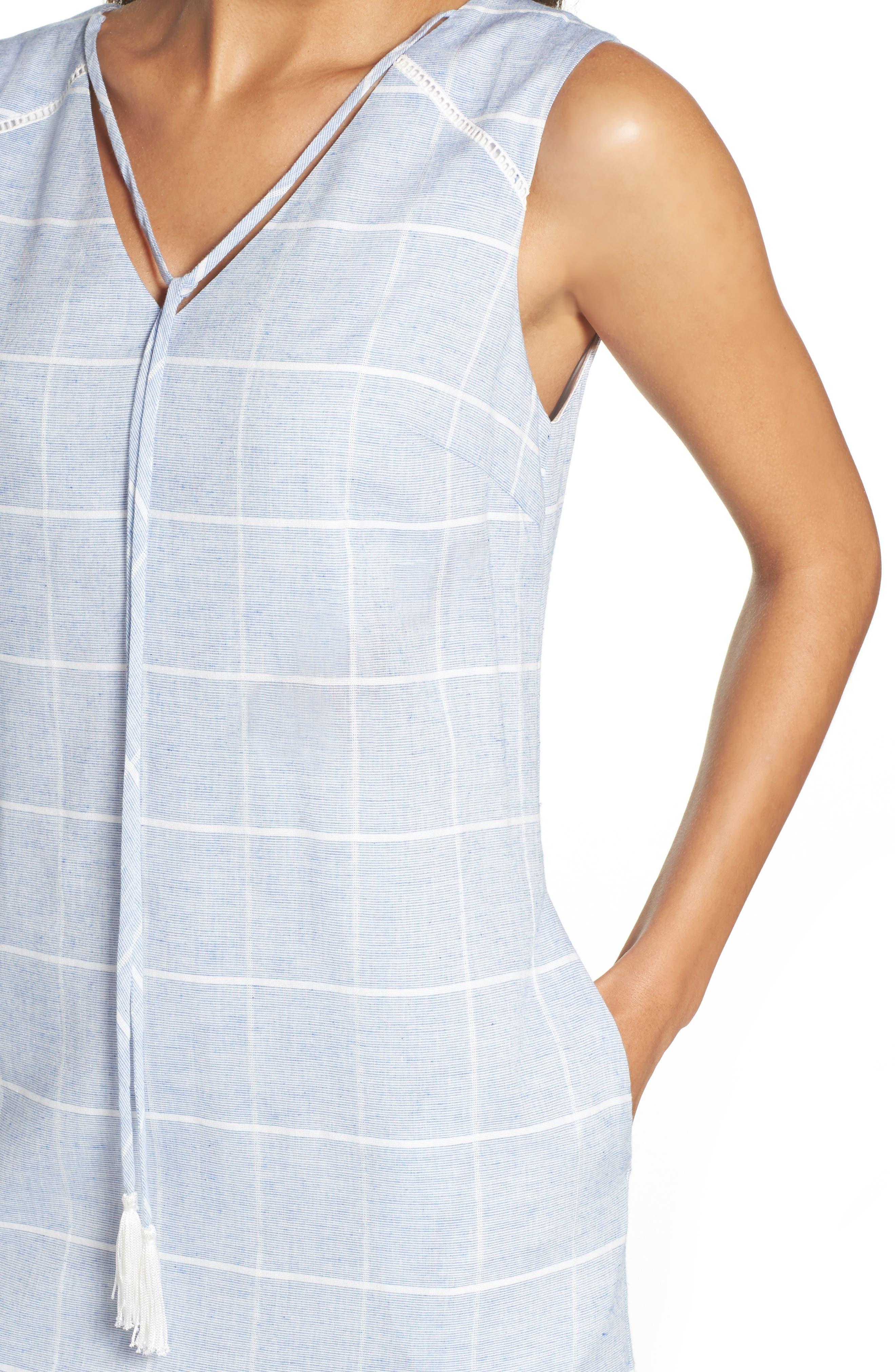 Cotton A-Line Dress,                             Alternate thumbnail 4, color,                             413