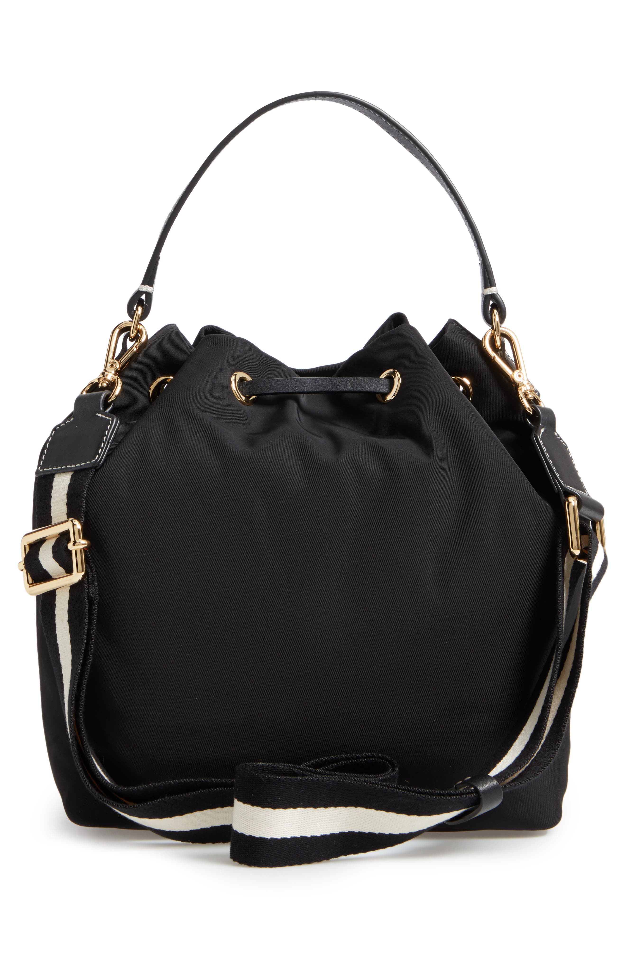 Medium Ann Nylon Bucket Bag,                             Alternate thumbnail 5, color,