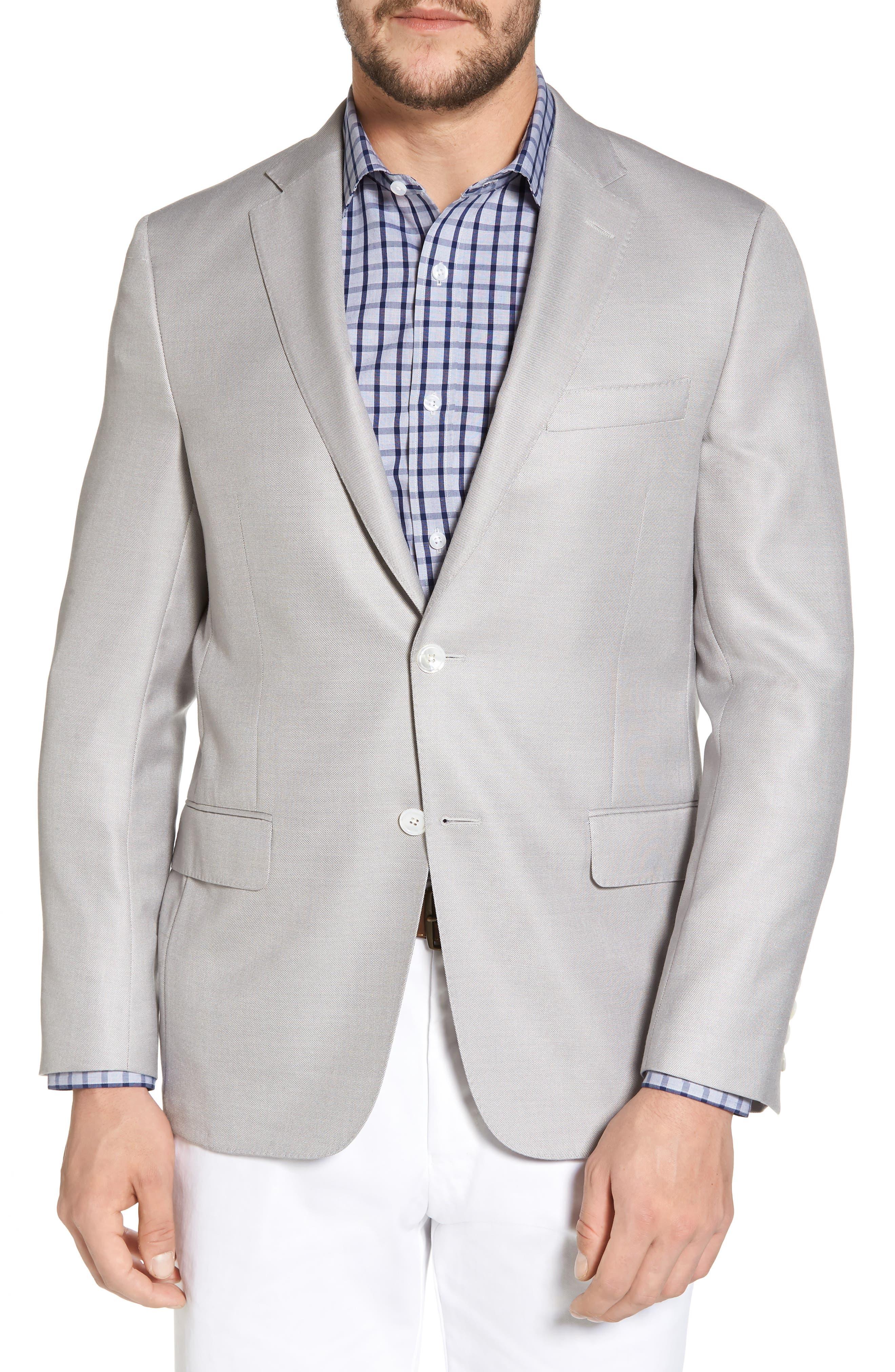 Classic B Fit Wool & Silk Blazer,                         Main,                         color,