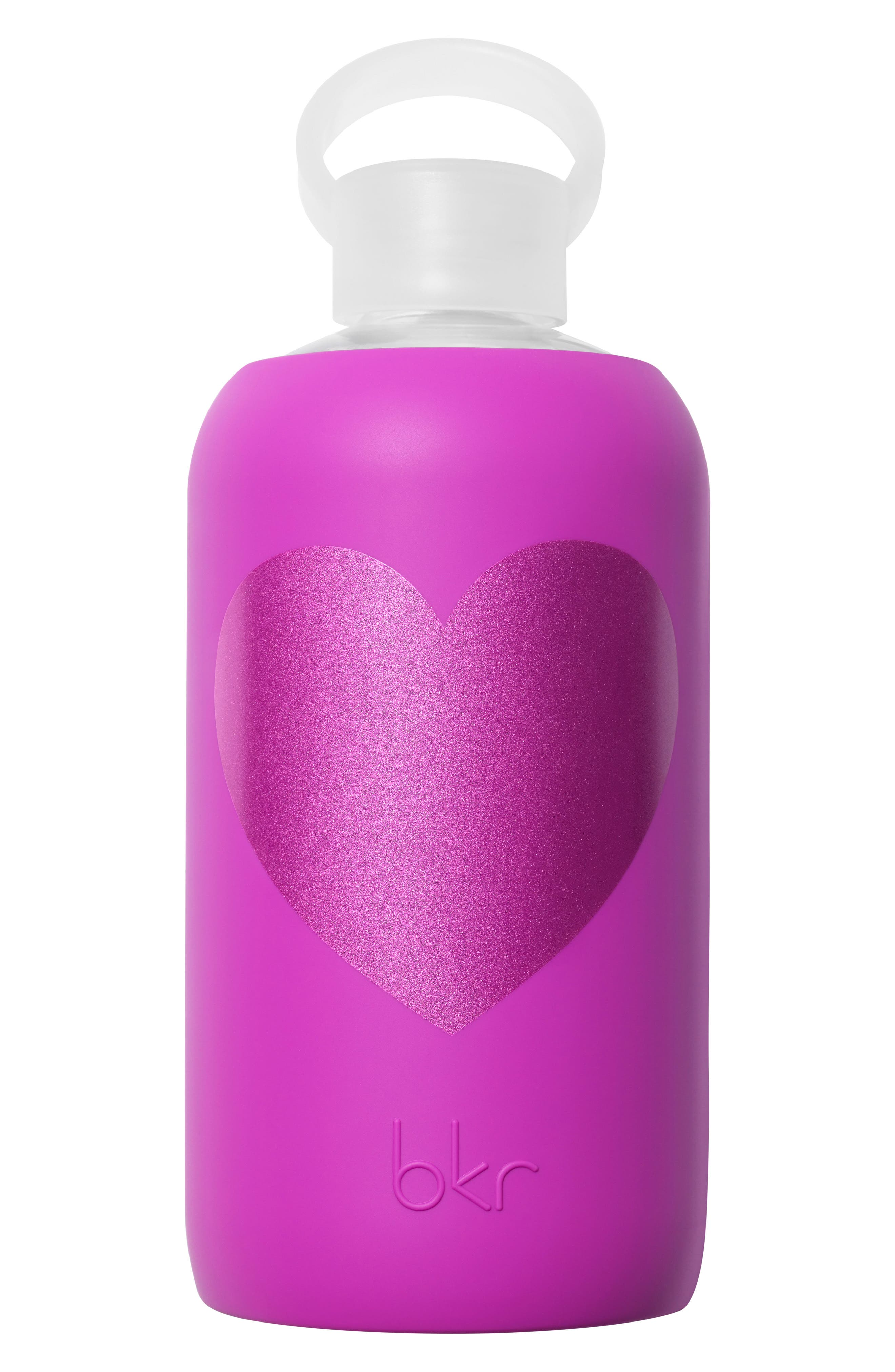 Heart 32-Ounce Glass Water Bottle,                             Main thumbnail 4, color,