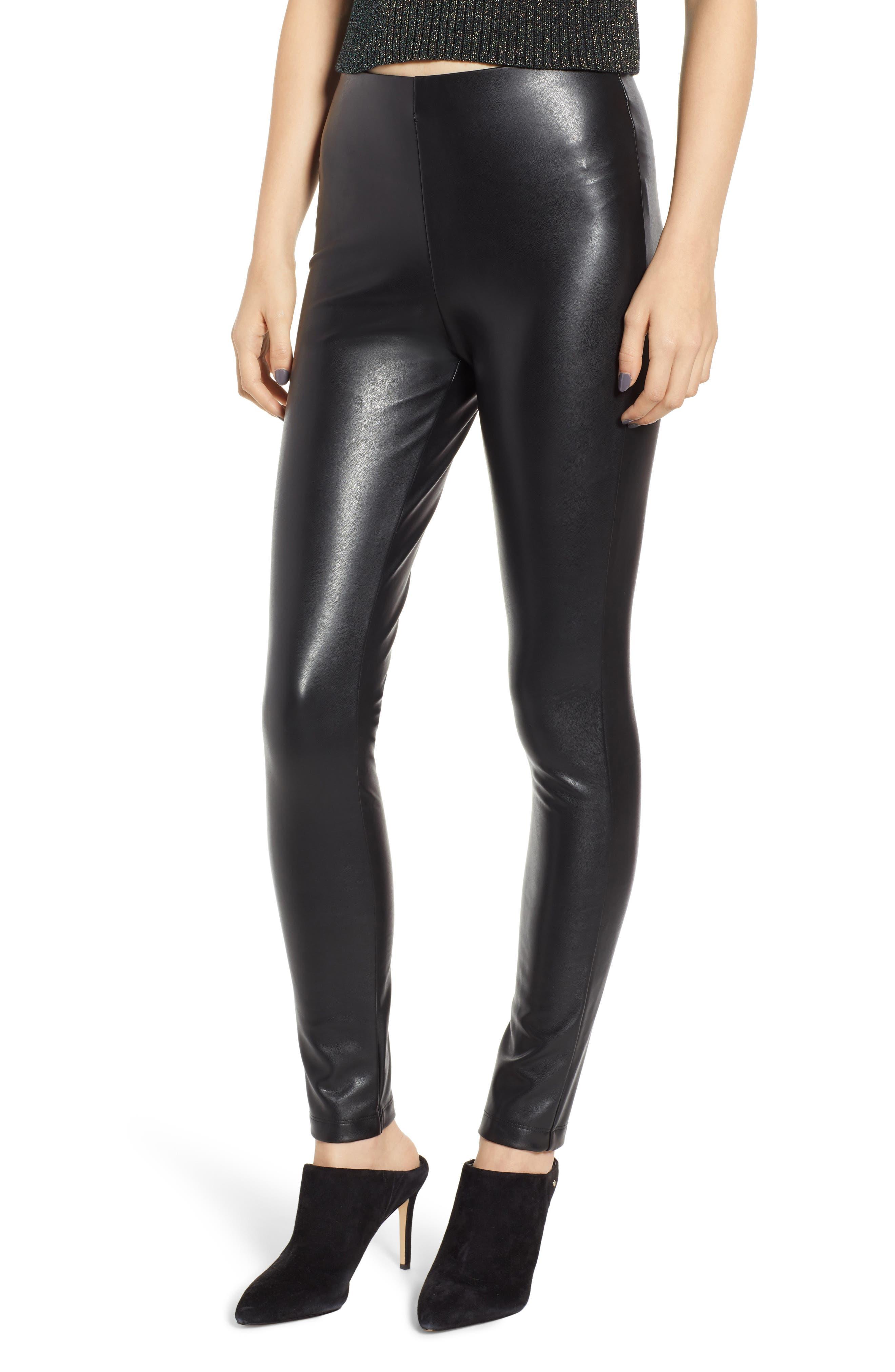 The Fifth Label Reverie Faux Leather Leggings, Black