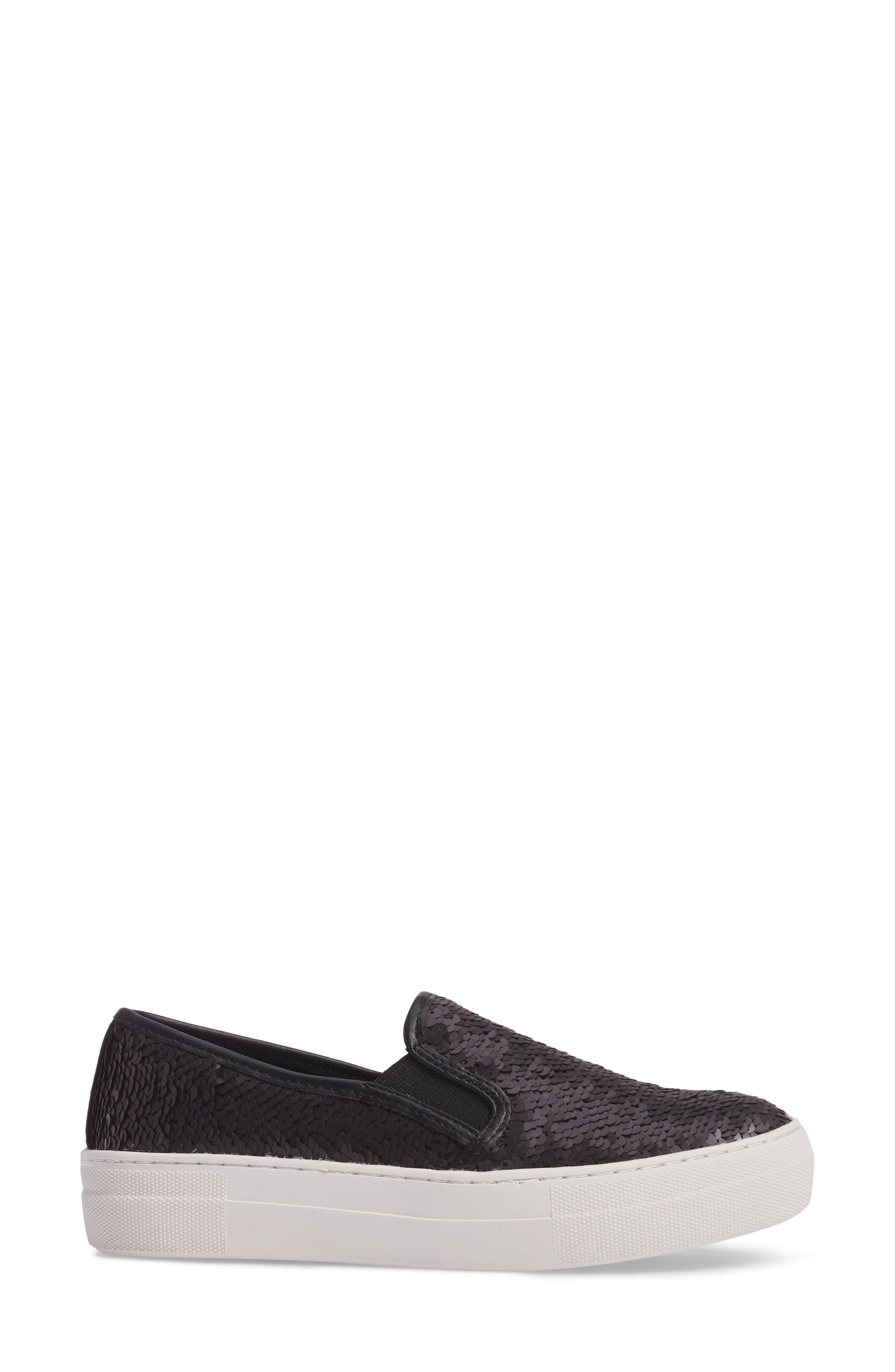 Gills Sequined Slip-On Platform Sneaker,                             Alternate thumbnail 3, color,                             001