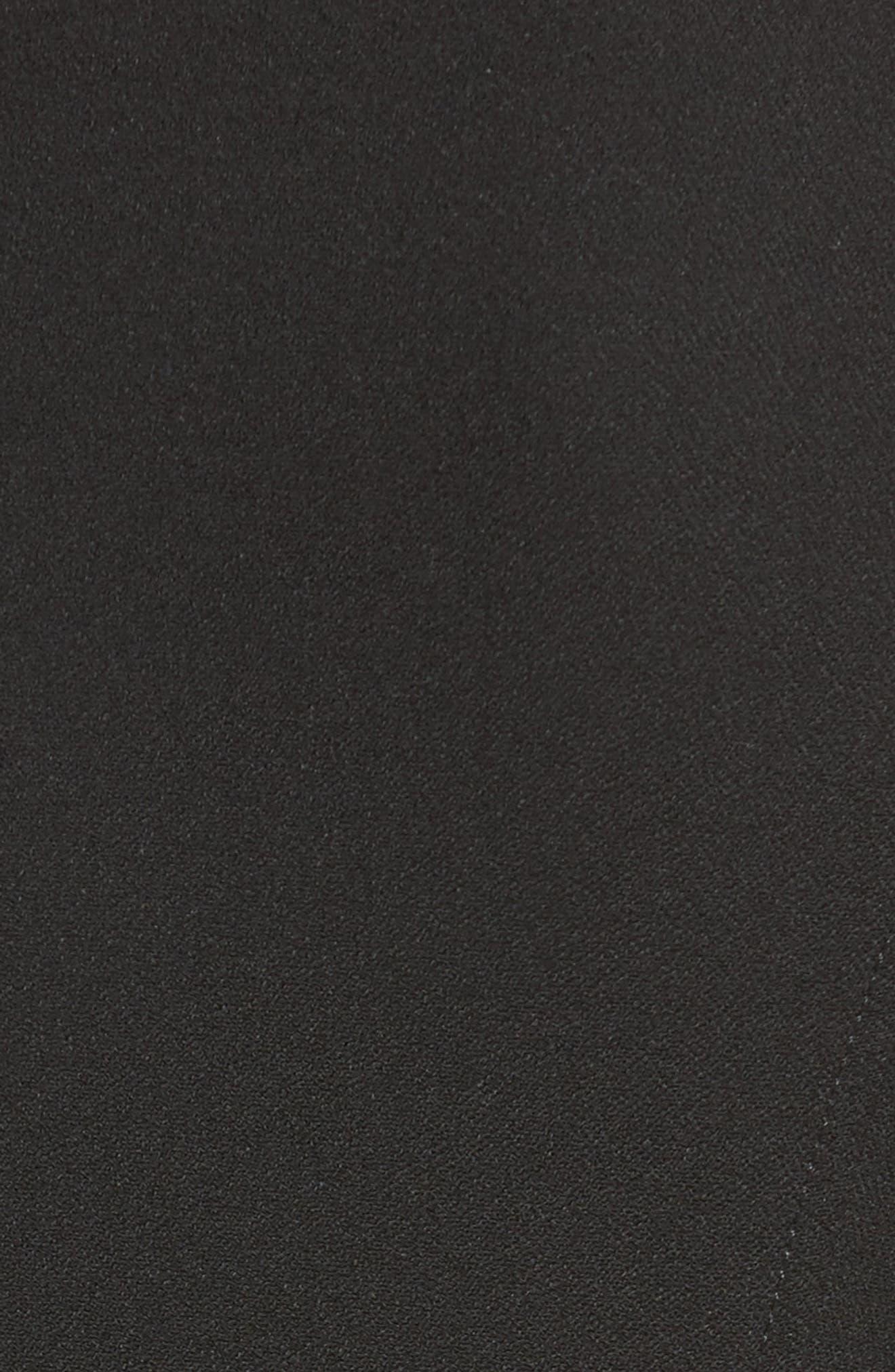 Armani Jeans Crepe Moto Jacket,                             Alternate thumbnail 6, color,                             001