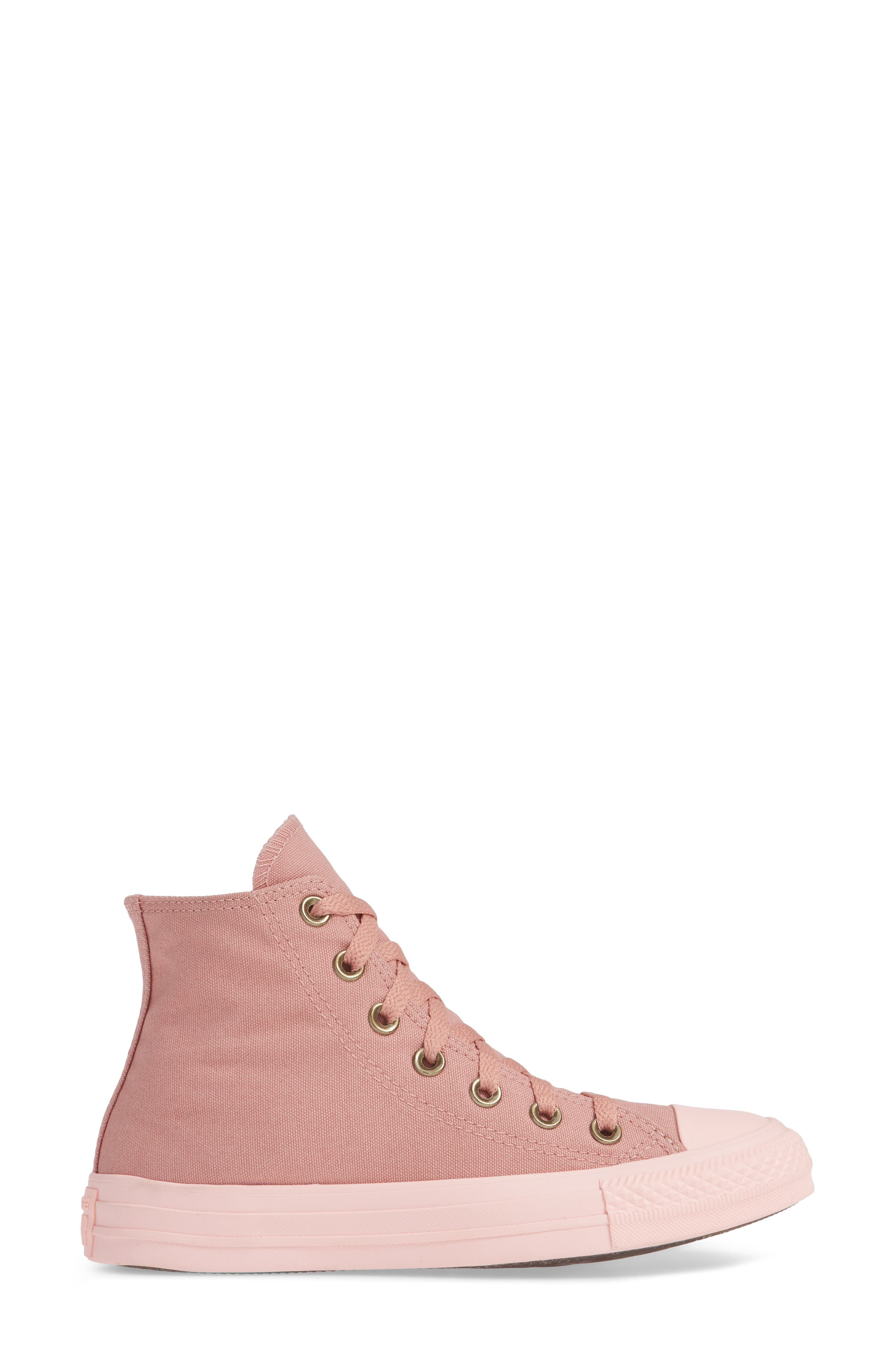 Chuck Taylor<sup>®</sup> All Star<sup>®</sup> Botanical High Top Sneaker,                             Alternate thumbnail 3, color,                             RUST PINK
