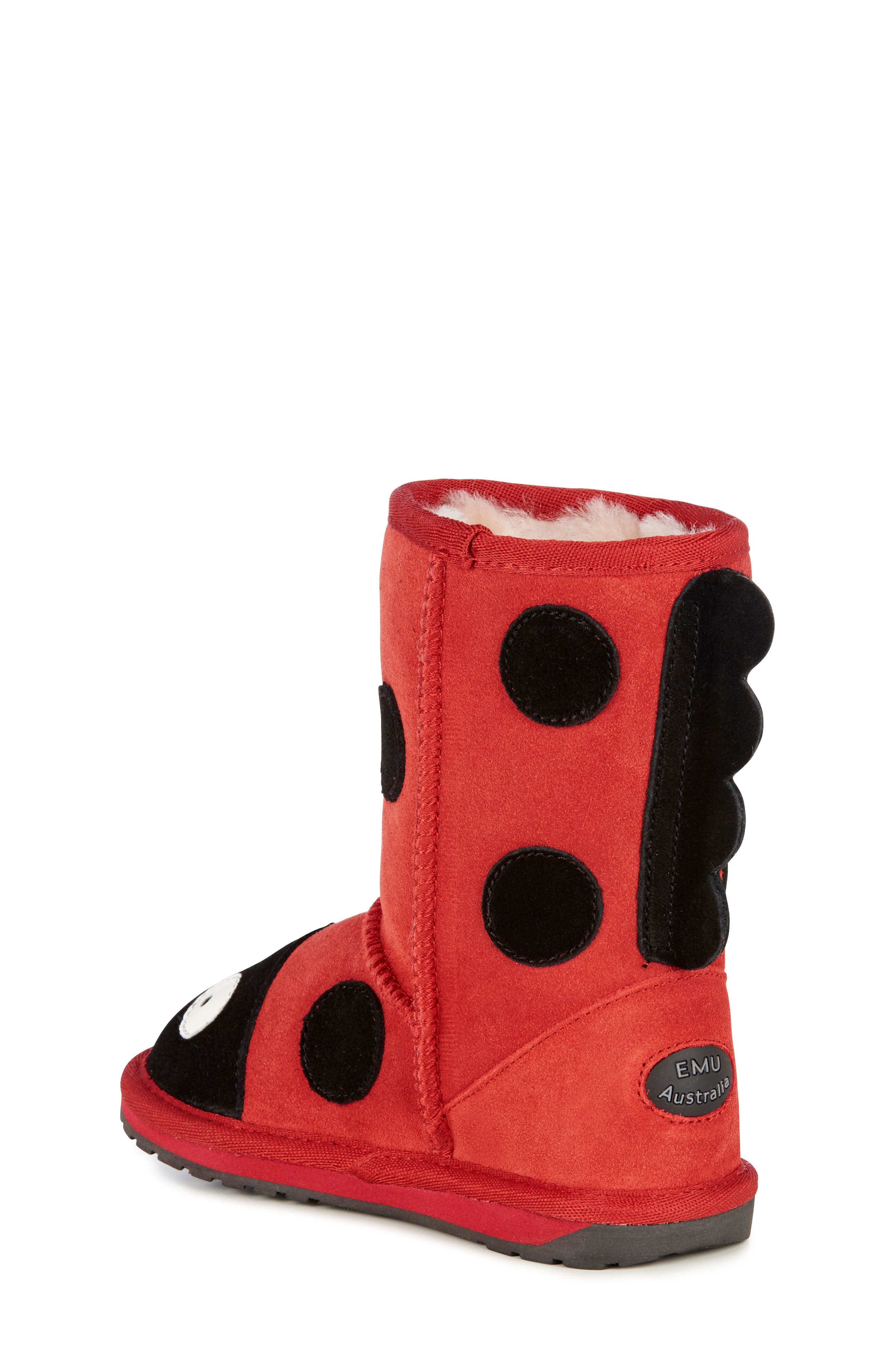 Little Creatures - Ladybug Boot,                             Alternate thumbnail 3, color,                             RED
