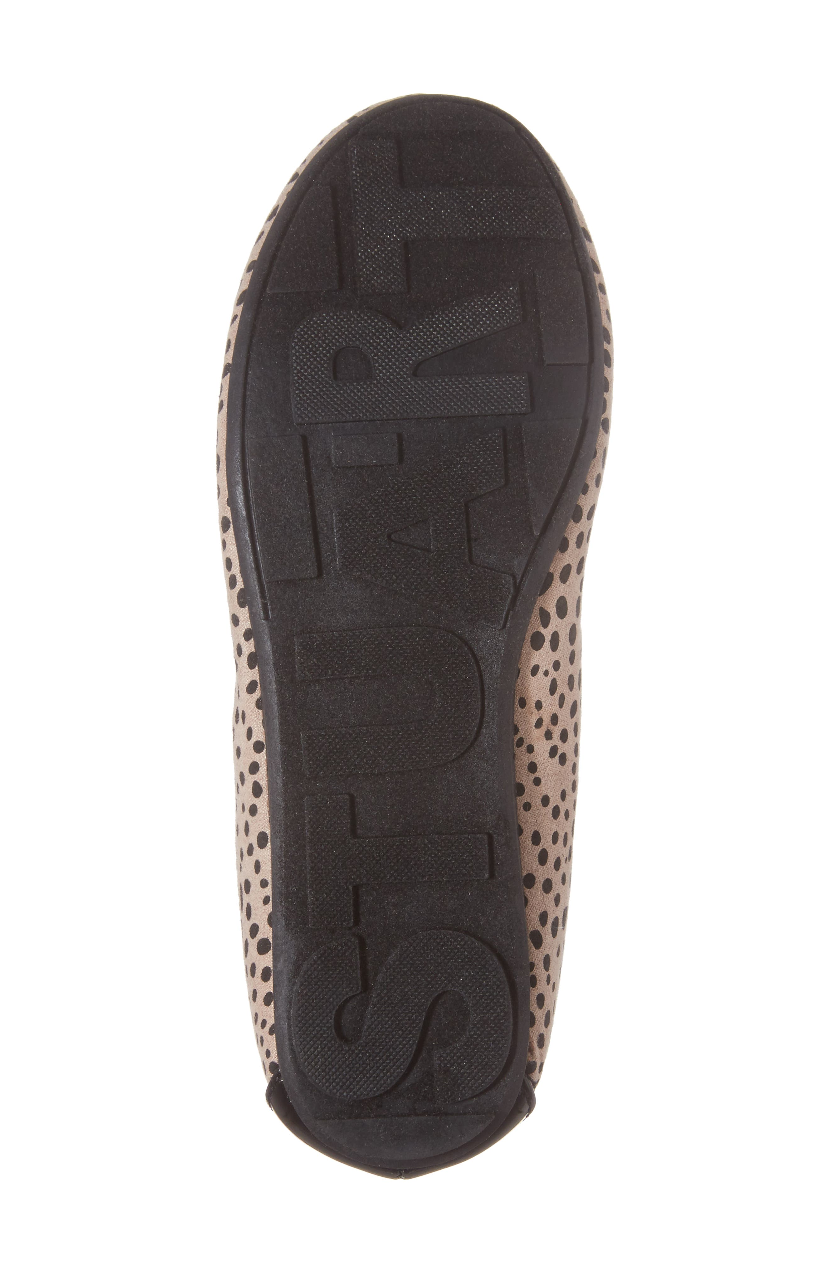 Fannie Cheetah Faux Fur Pom Flat,                             Alternate thumbnail 6, color,                             012