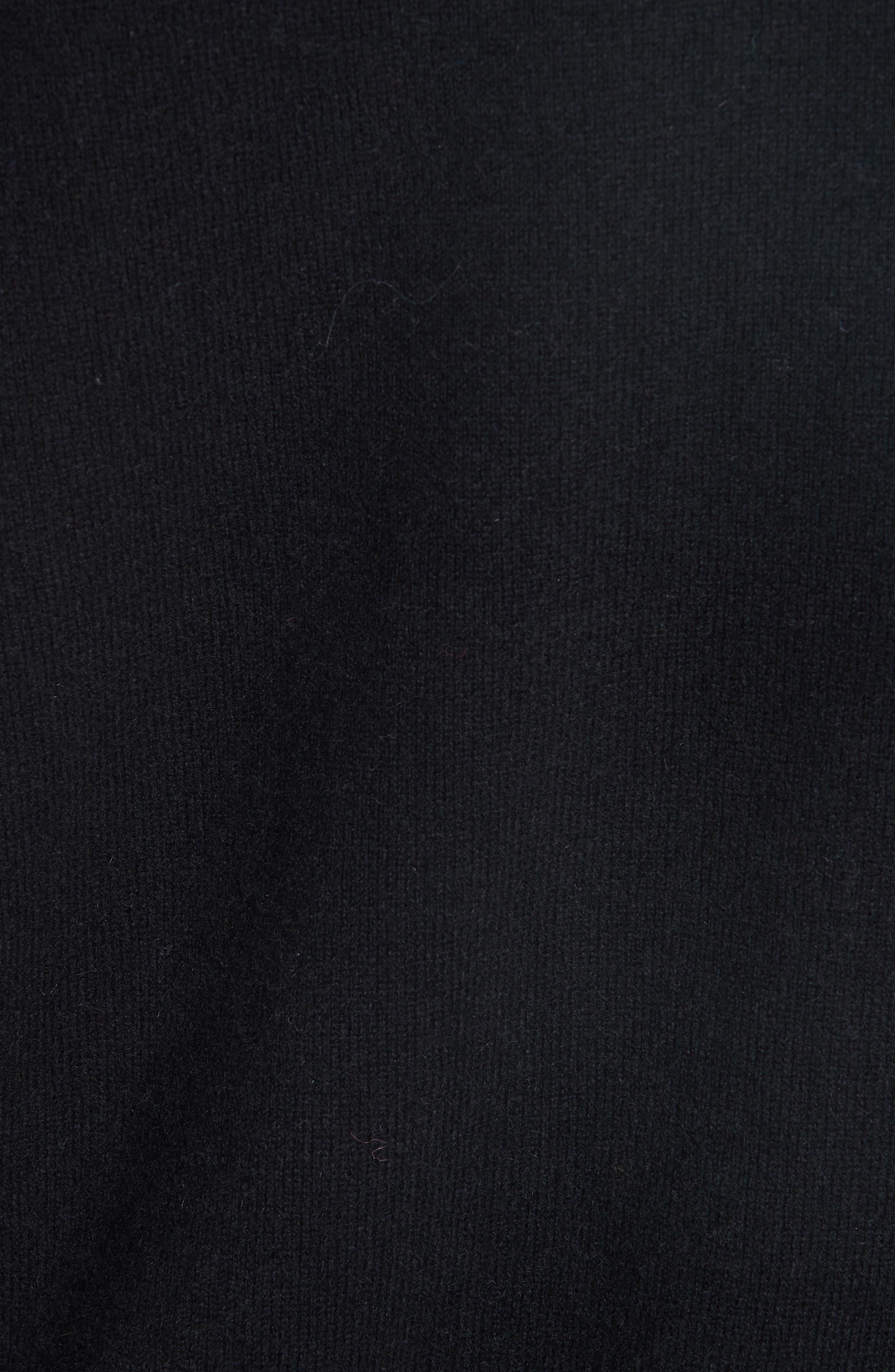 Crewneck Cashmere Sweater,                             Alternate thumbnail 5, color,                             BLACK