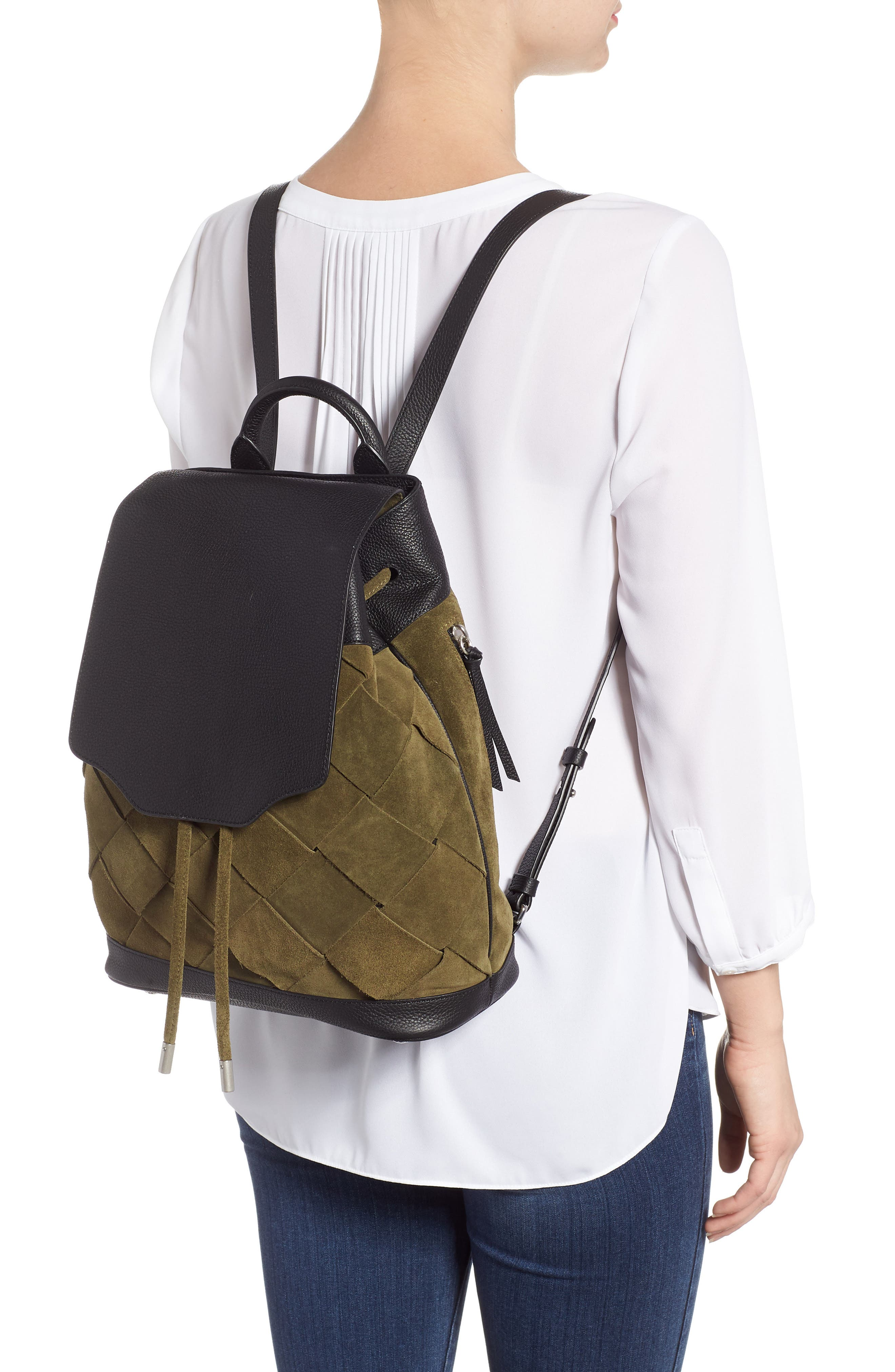 Pilot Suede & Leather Backpack,                             Alternate thumbnail 2, color,                             300