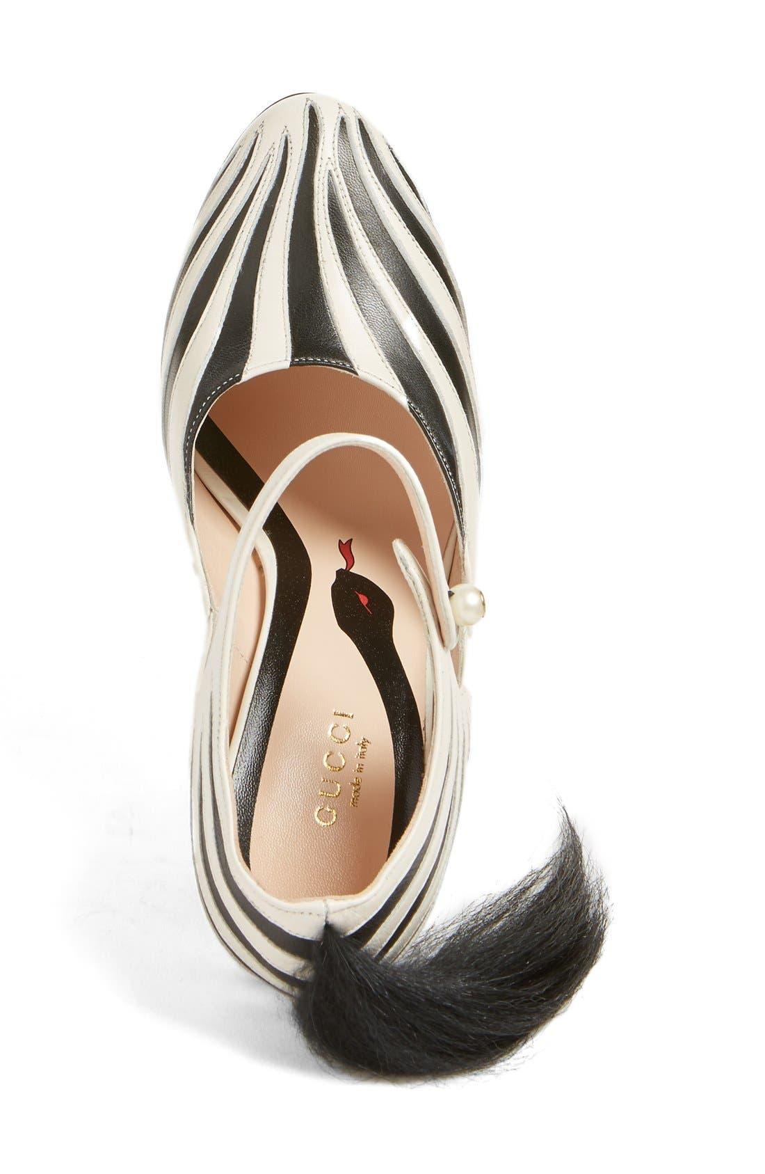 'Lesley' Zebra Stripe Pump,                             Alternate thumbnail 3, color,                             124