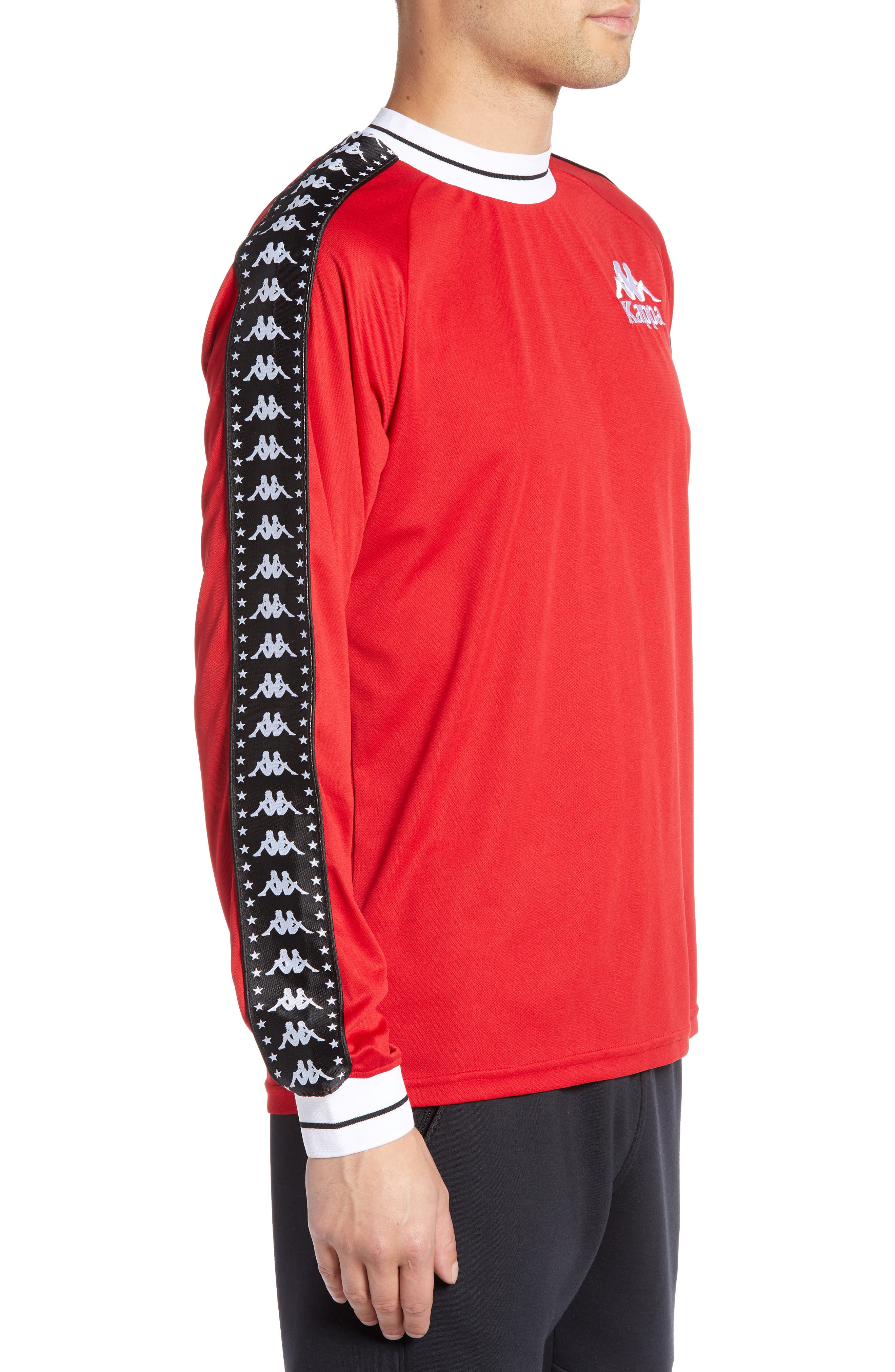 Authentic Aneat Logo Taped Long Sleeve T-Shirt,                             Alternate thumbnail 3, color,                             RED/ BLACK/ WHITE