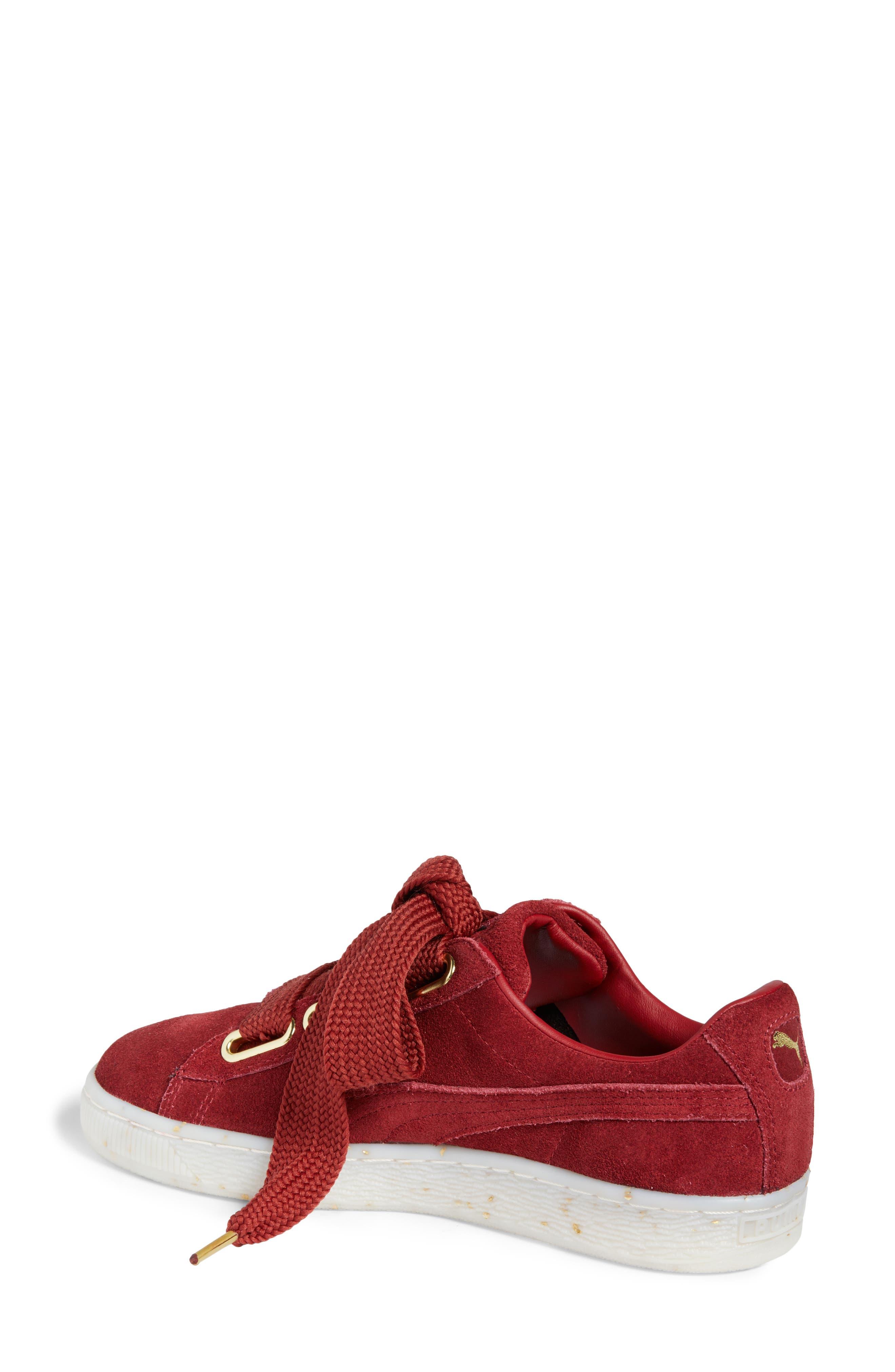 Suede - Heart Sneaker,                             Alternate thumbnail 11, color,