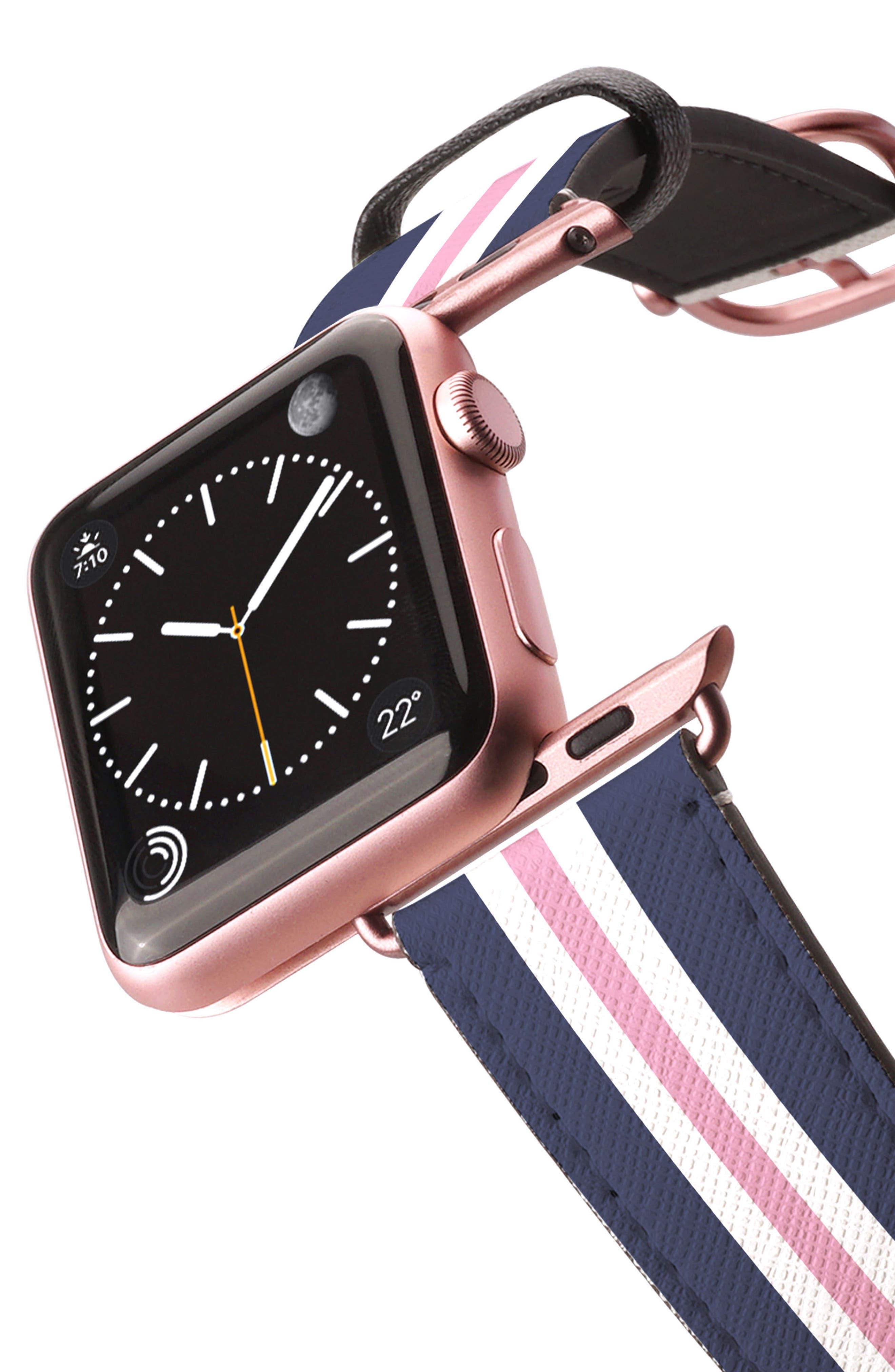 Saffiano Faux Leather Apple Watch Strap,                             Alternate thumbnail 17, color,