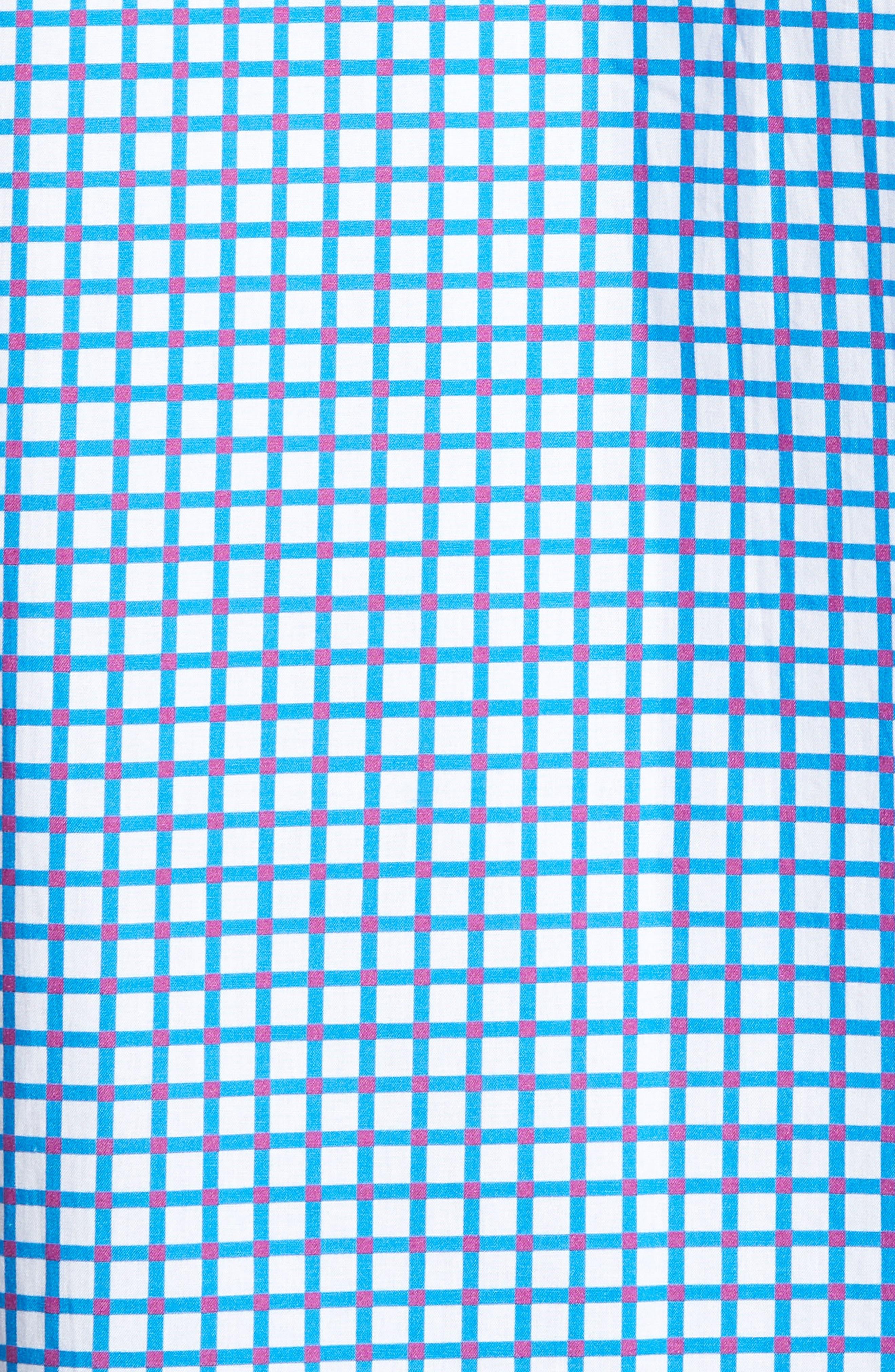 Classic Fit Dot Check Sport Shirt,                             Alternate thumbnail 5, color,                             TURQUOISE