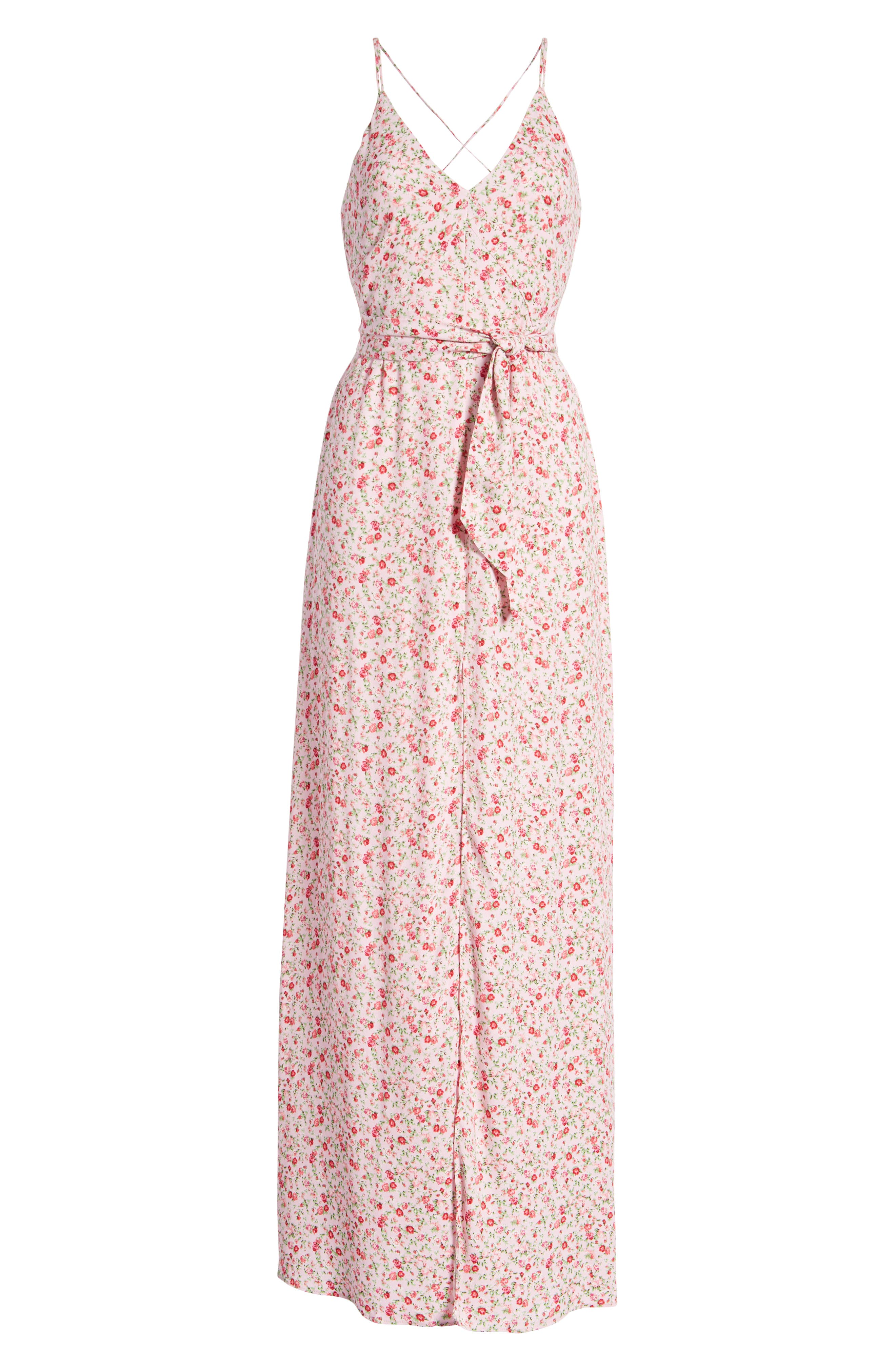 Diego Maxi Dress,                             Alternate thumbnail 7, color,                             BABY PINK DITSY
