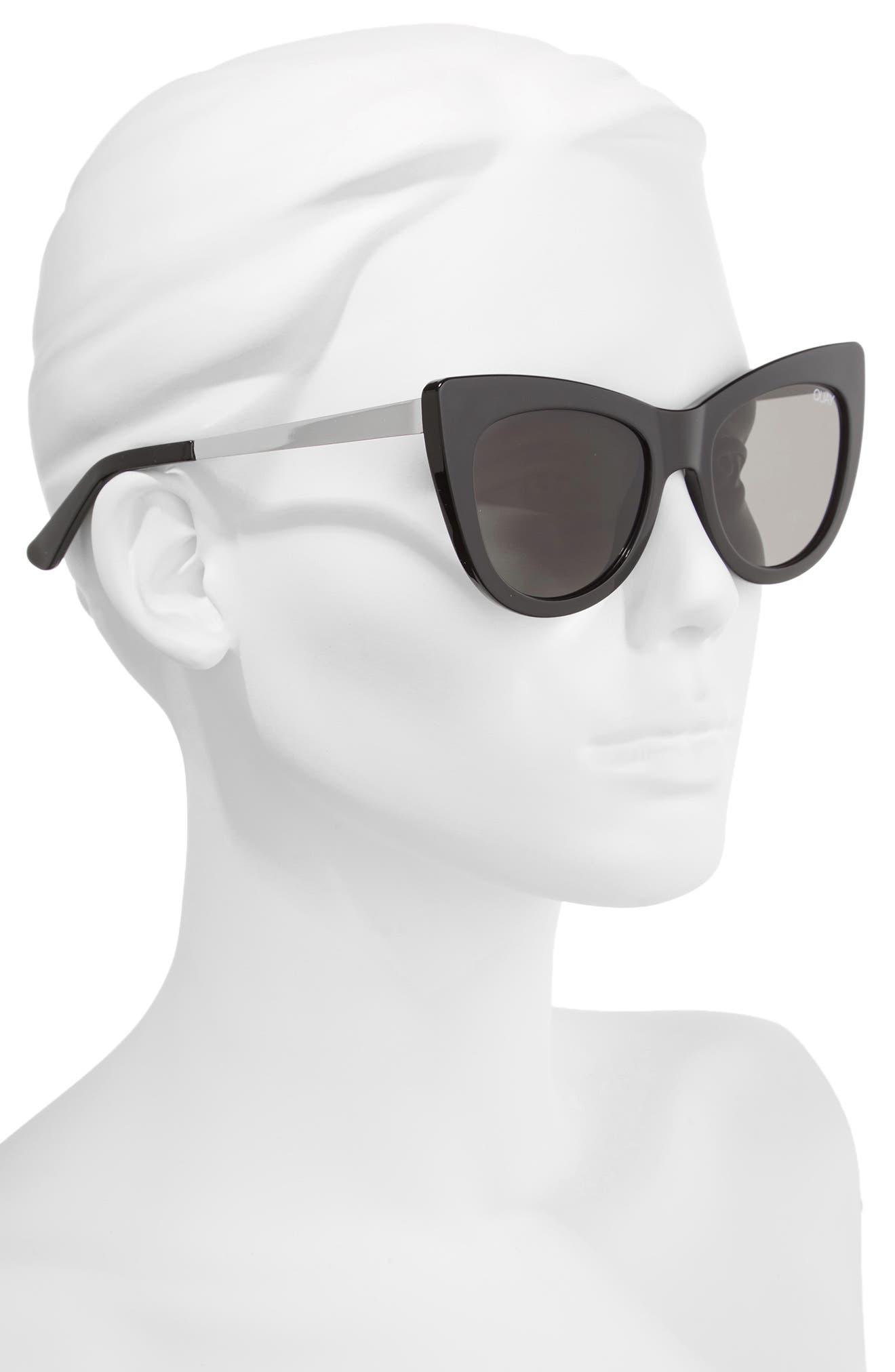 53mm Steal a Kiss Cat-eye Sunglasses,                             Alternate thumbnail 2, color,                             001