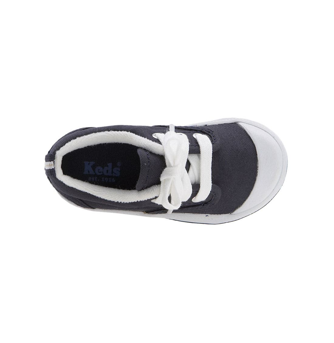 'Graham' Lace-Up Sneaker,                             Alternate thumbnail 4, color,                             NAVY CANVAS