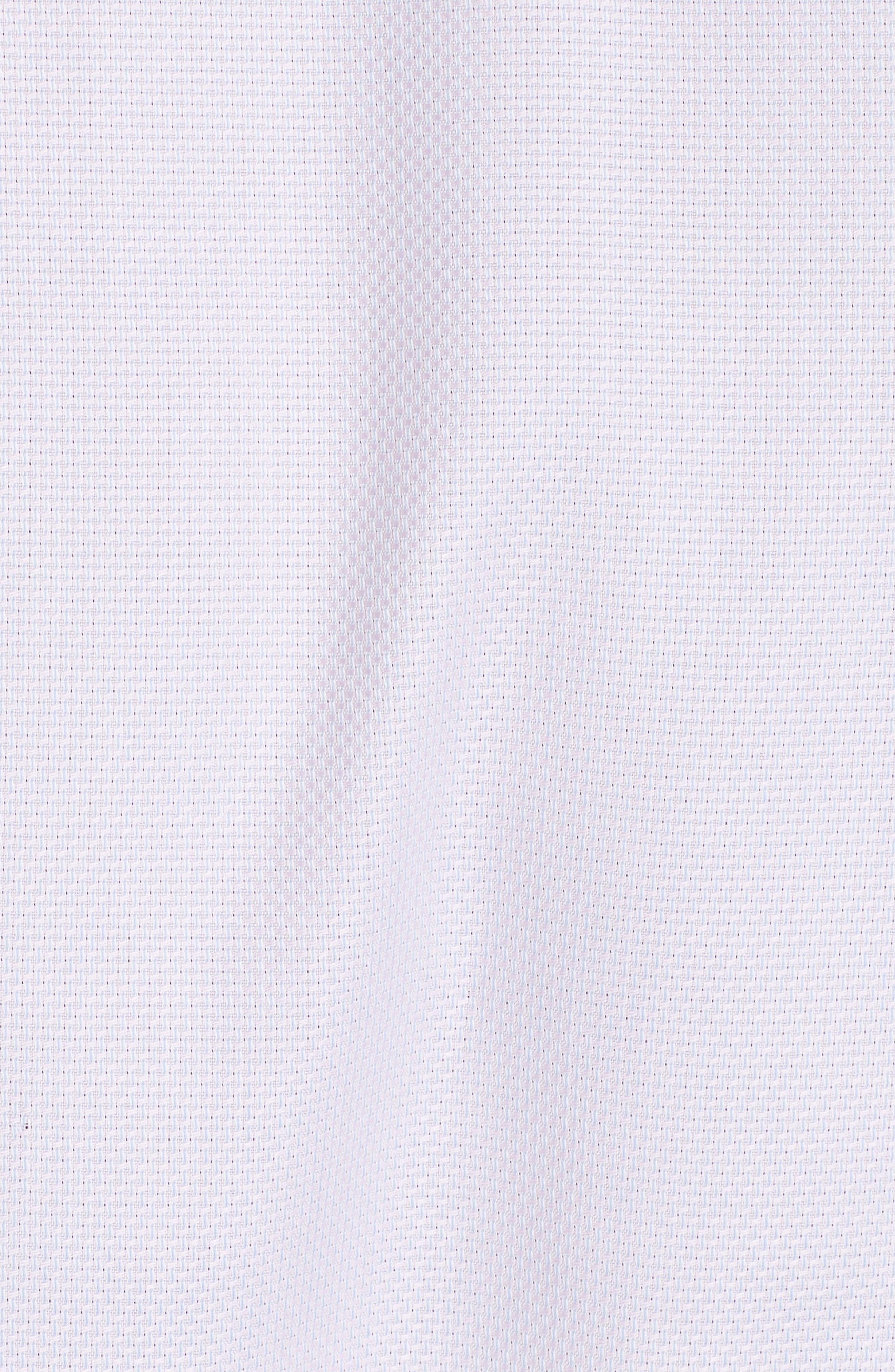 Trim Fit Solid Dress Shirt,                             Alternate thumbnail 5, color,                             LIGHT PINK