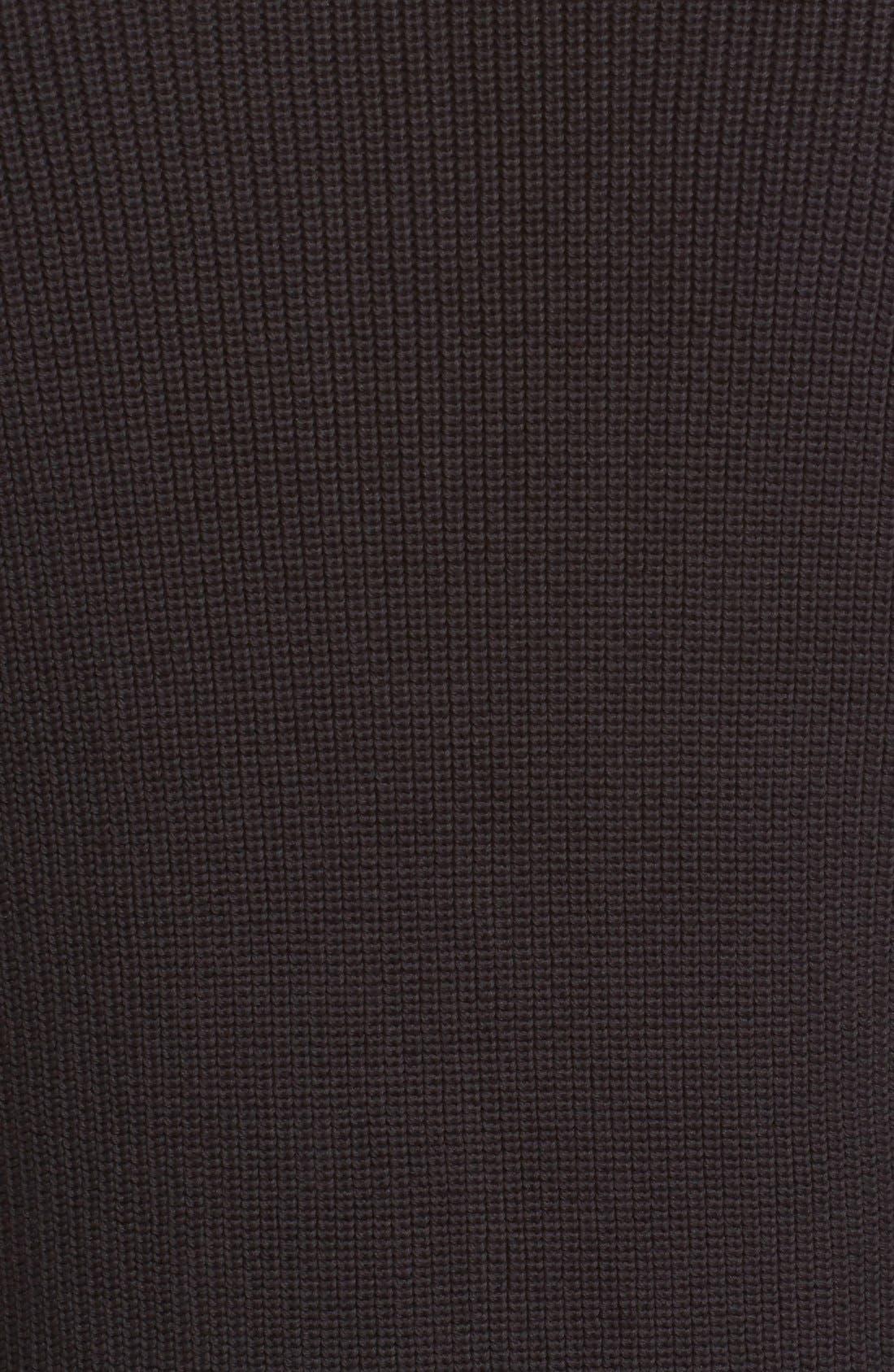 Parkgate Zip Front Mock Neck Sweater,                             Alternate thumbnail 5, color,                             001