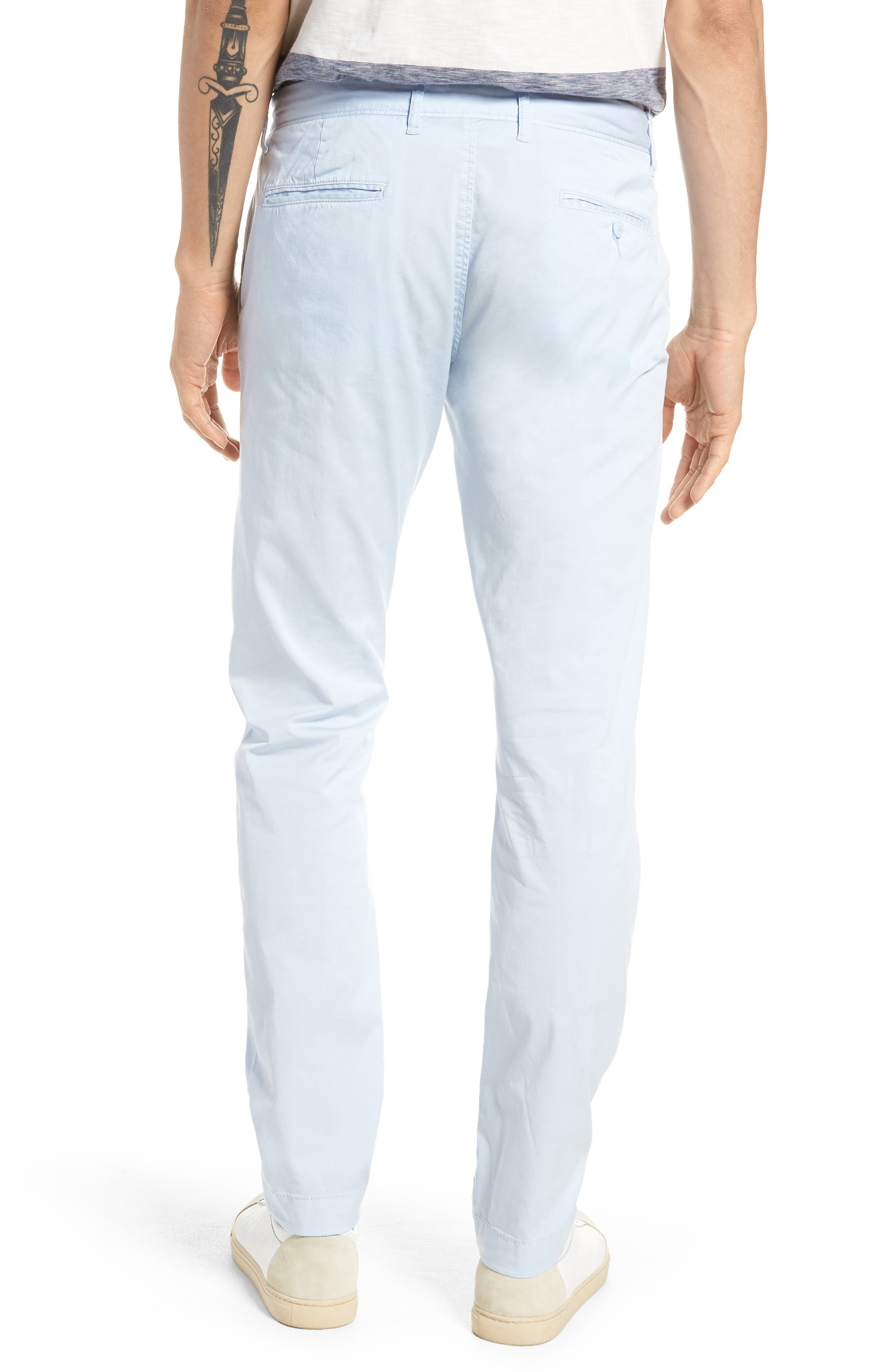 Slim Fit Garment Dyed Stretch Chinos,                             Alternate thumbnail 7, color,