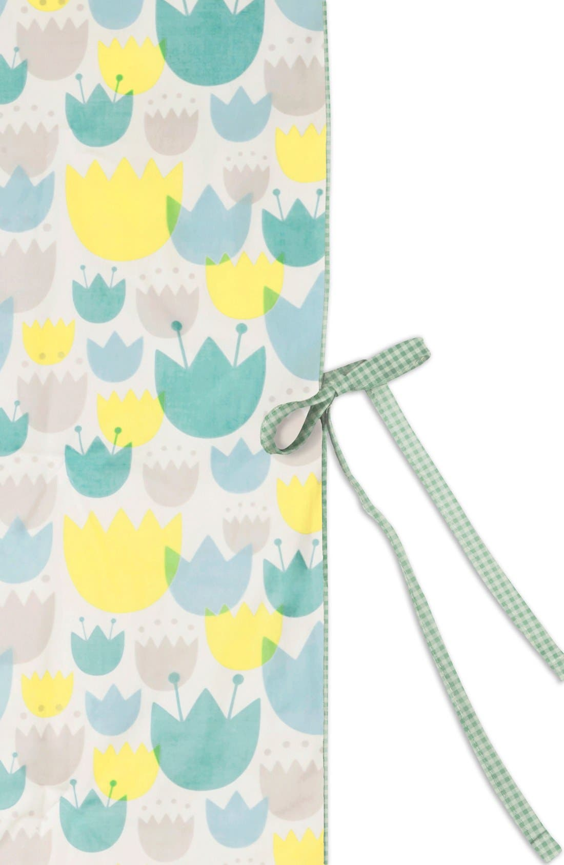 'Garden' Mini Crib Sheet, Changing Pad Cover, Stroller Blanket & Wall Decals,                             Alternate thumbnail 5, color,                             BLUE