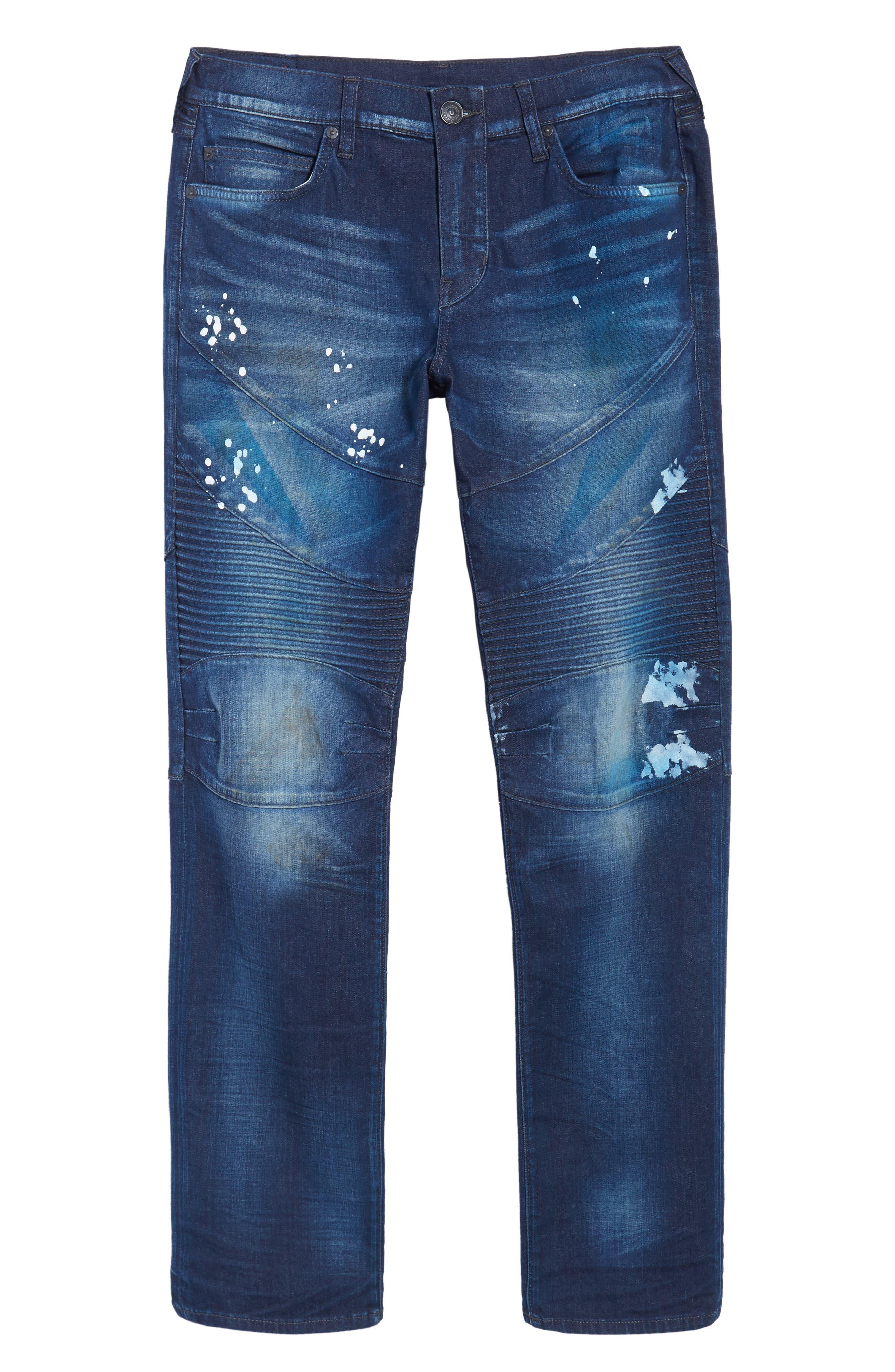 Geno Straight Leg Jeans,                             Alternate thumbnail 6, color,                             FRAGMENT SHADOW