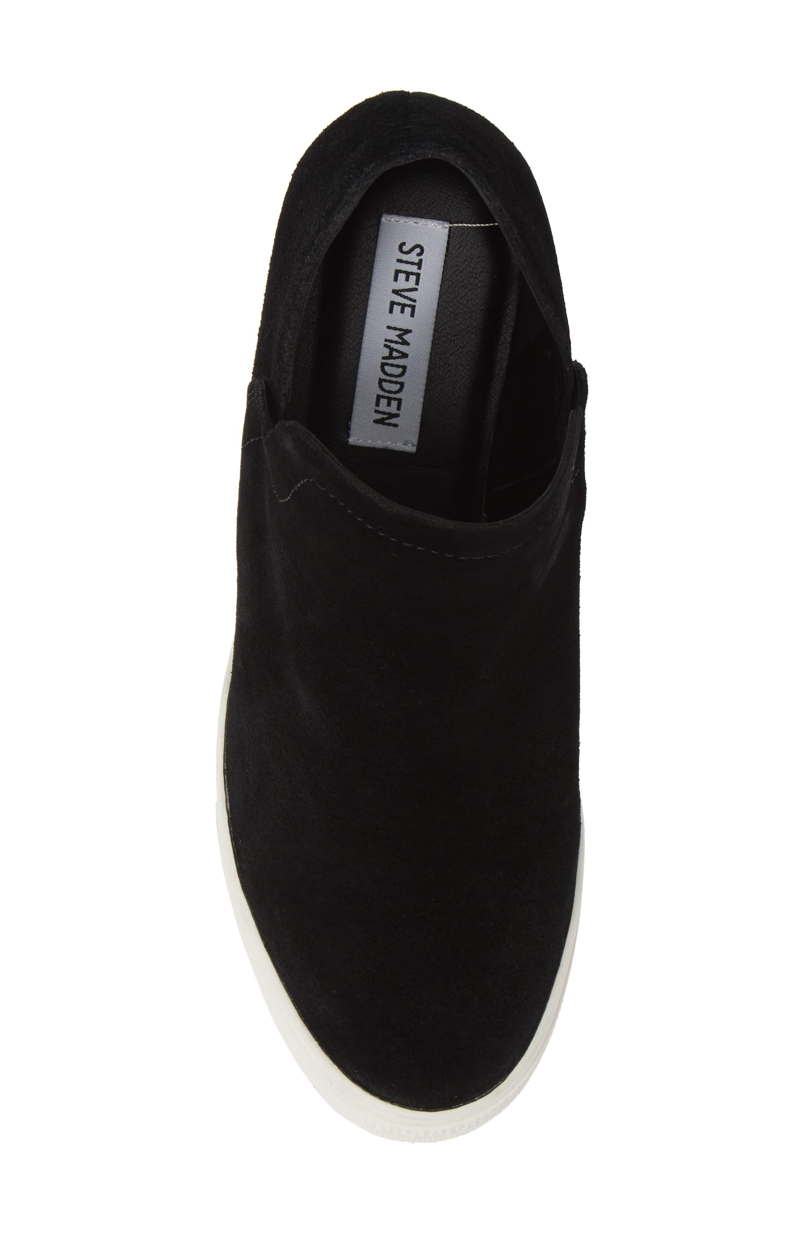 Wrangle Sneaker,                             Alternate thumbnail 5, color,                             BLACK SUEDE