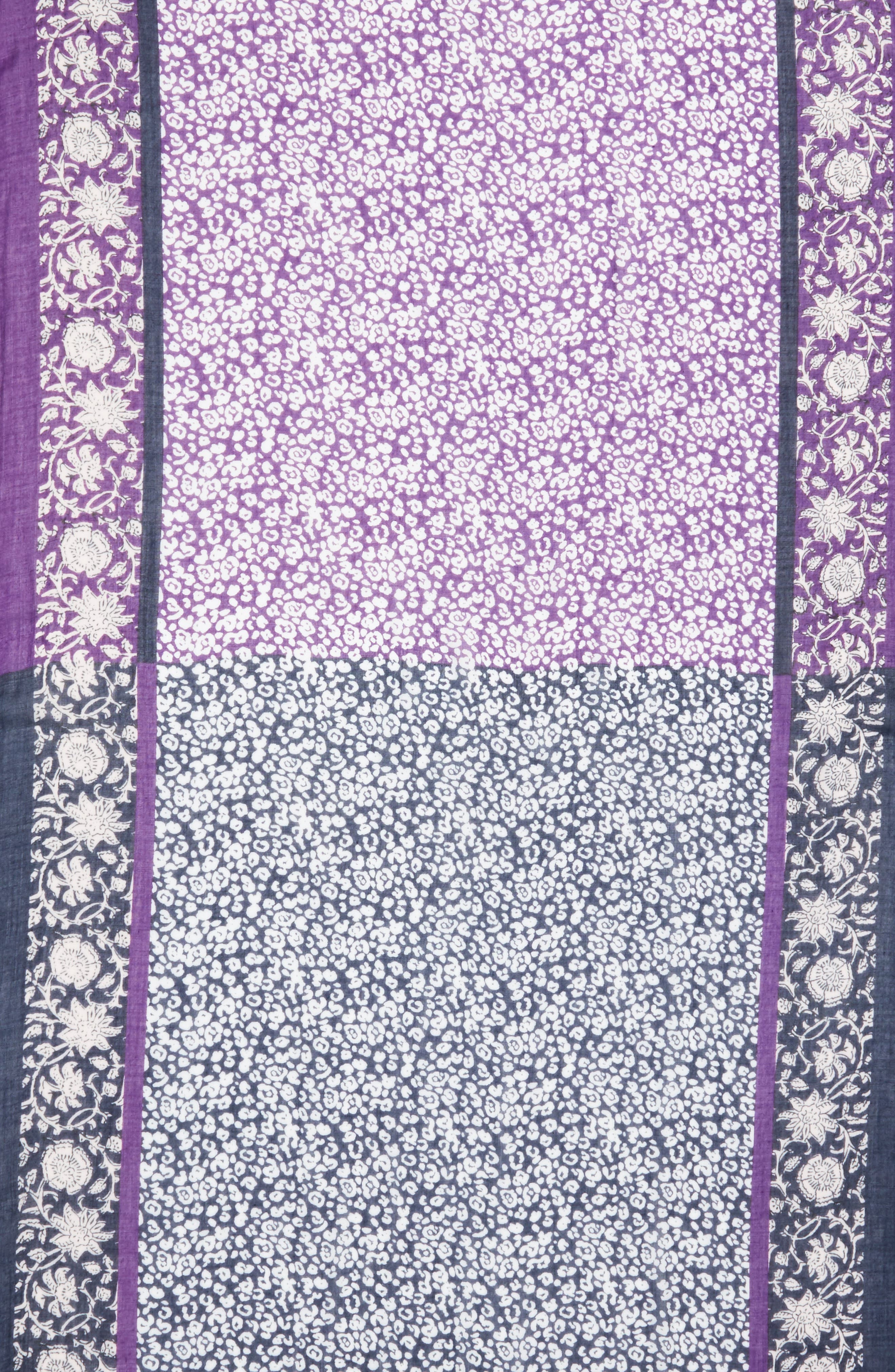 Baby Leopard Batik Print Scarf,                             Alternate thumbnail 4, color,                             400