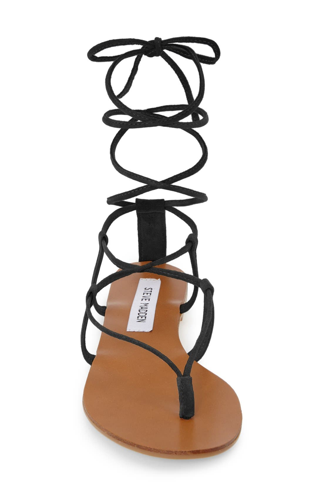 'Werkit' Gladiator Sandal,                             Alternate thumbnail 4, color,                             001