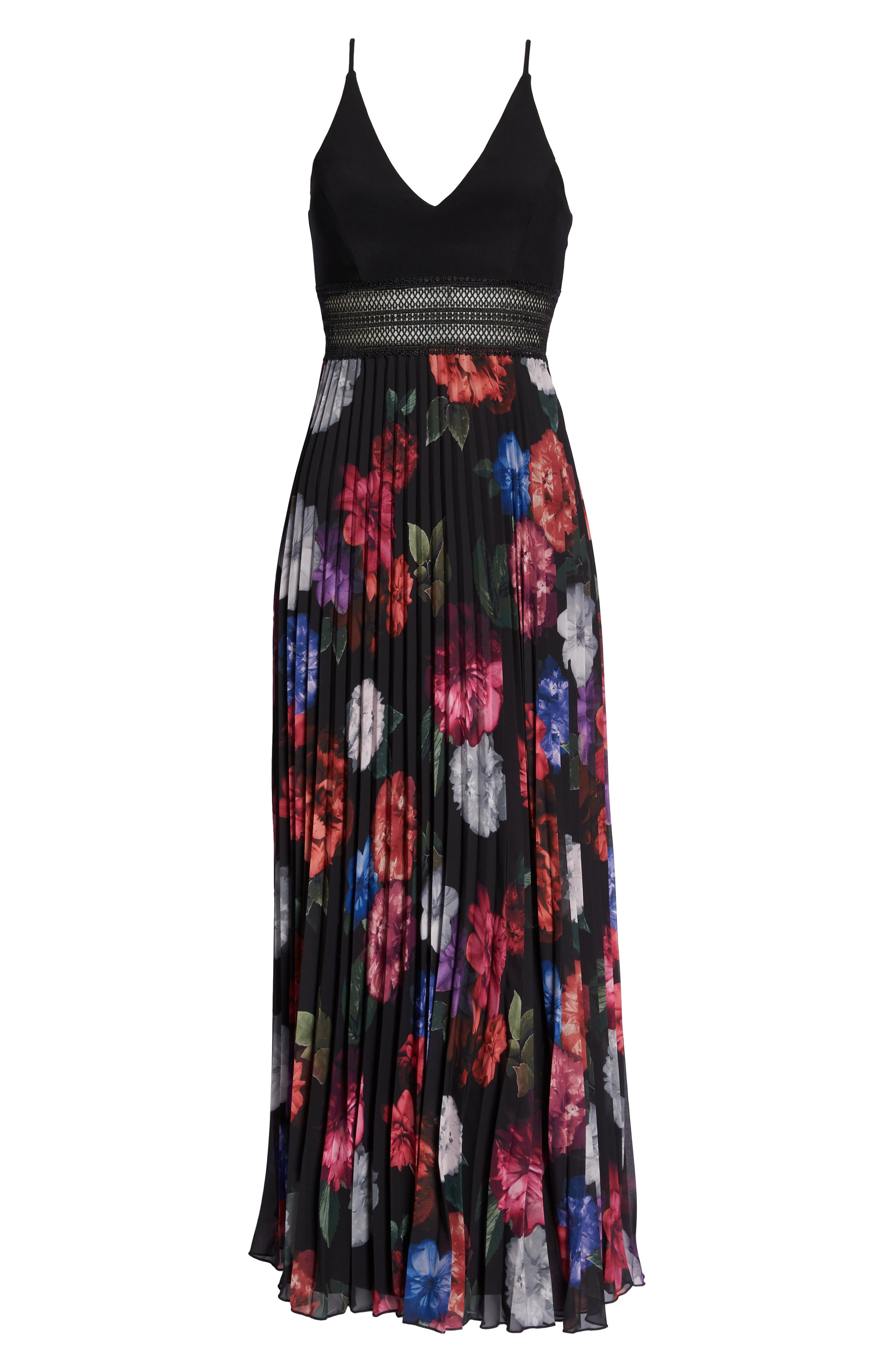 Floral Pleated Gown,                             Alternate thumbnail 12, color,
